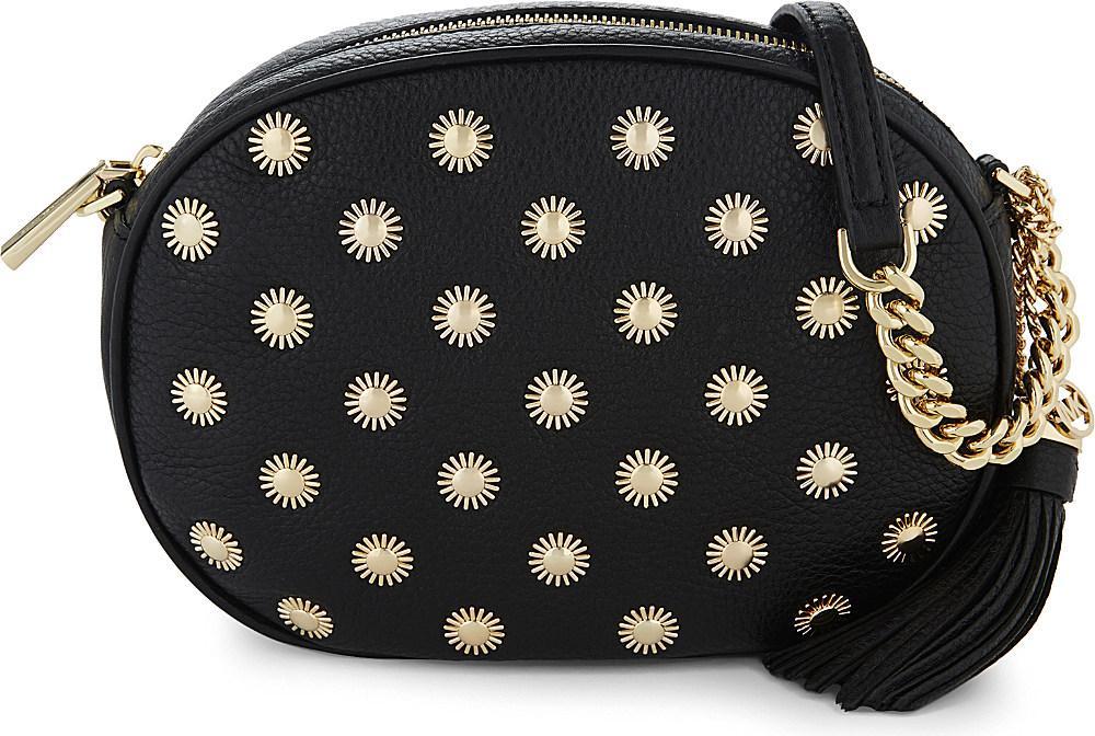 42f785959b2adc MICHAEL Michael Kors Ginny Studded Medium Leather Cross-body Bag in ...