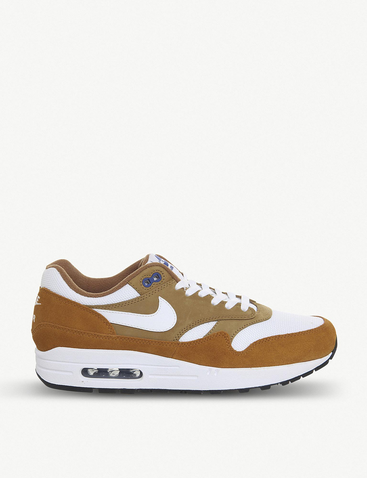 separation shoes e5852 38dec Nike. Women s Brown Air Max 1 Leather Trainers