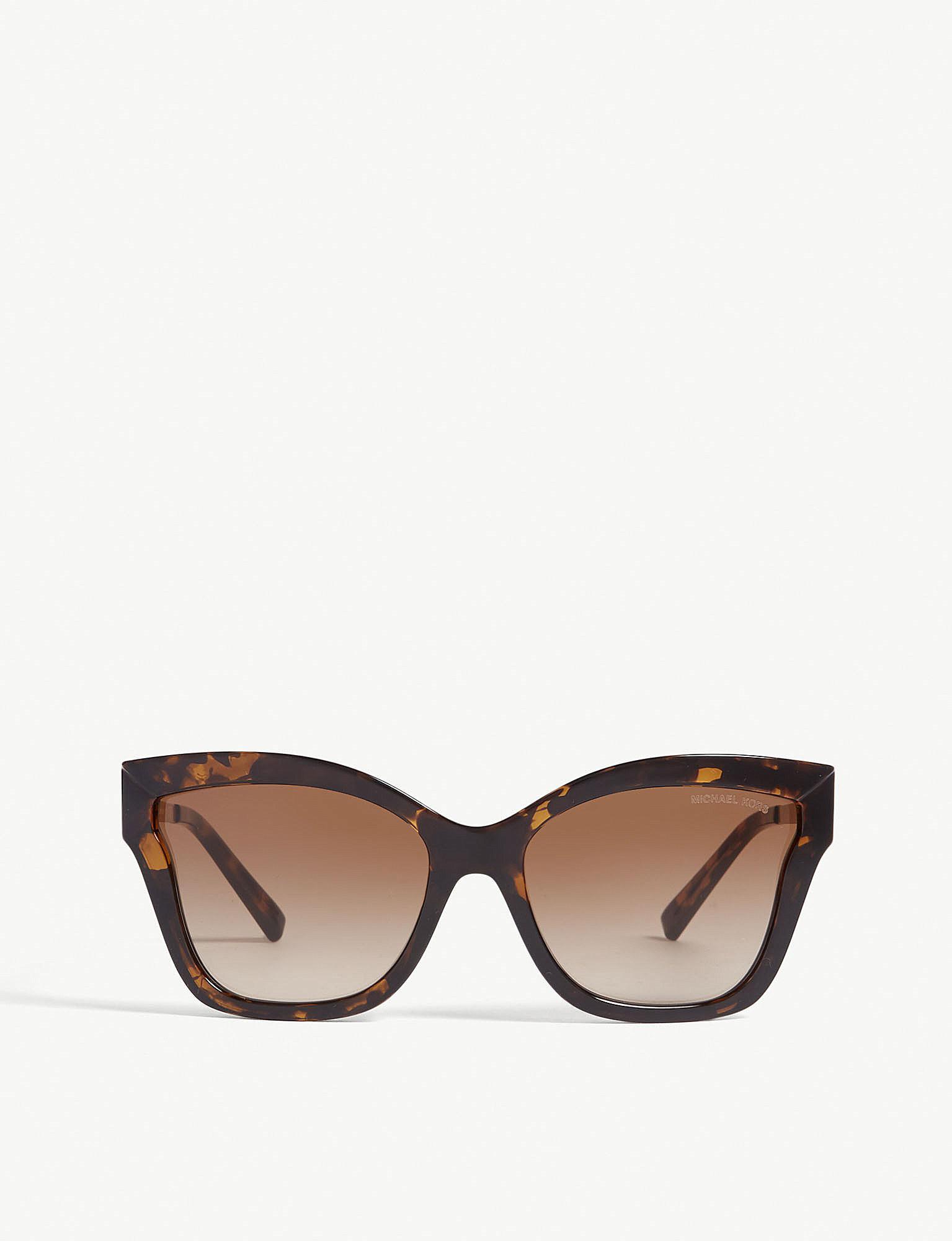 0713716302 Michael Kors Mk2072 Barbados Cat-eye Frame Sunglasses in Brown - Lyst