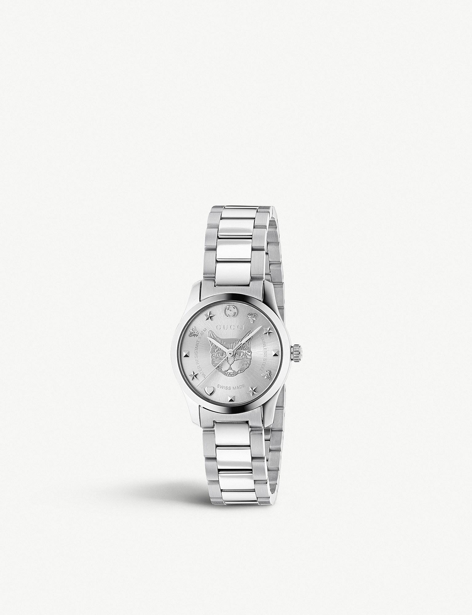 839dbbd0f8c Lyst - Gucci Ya1264595 G-timeless Stainless Steel Watch in Metallic ...