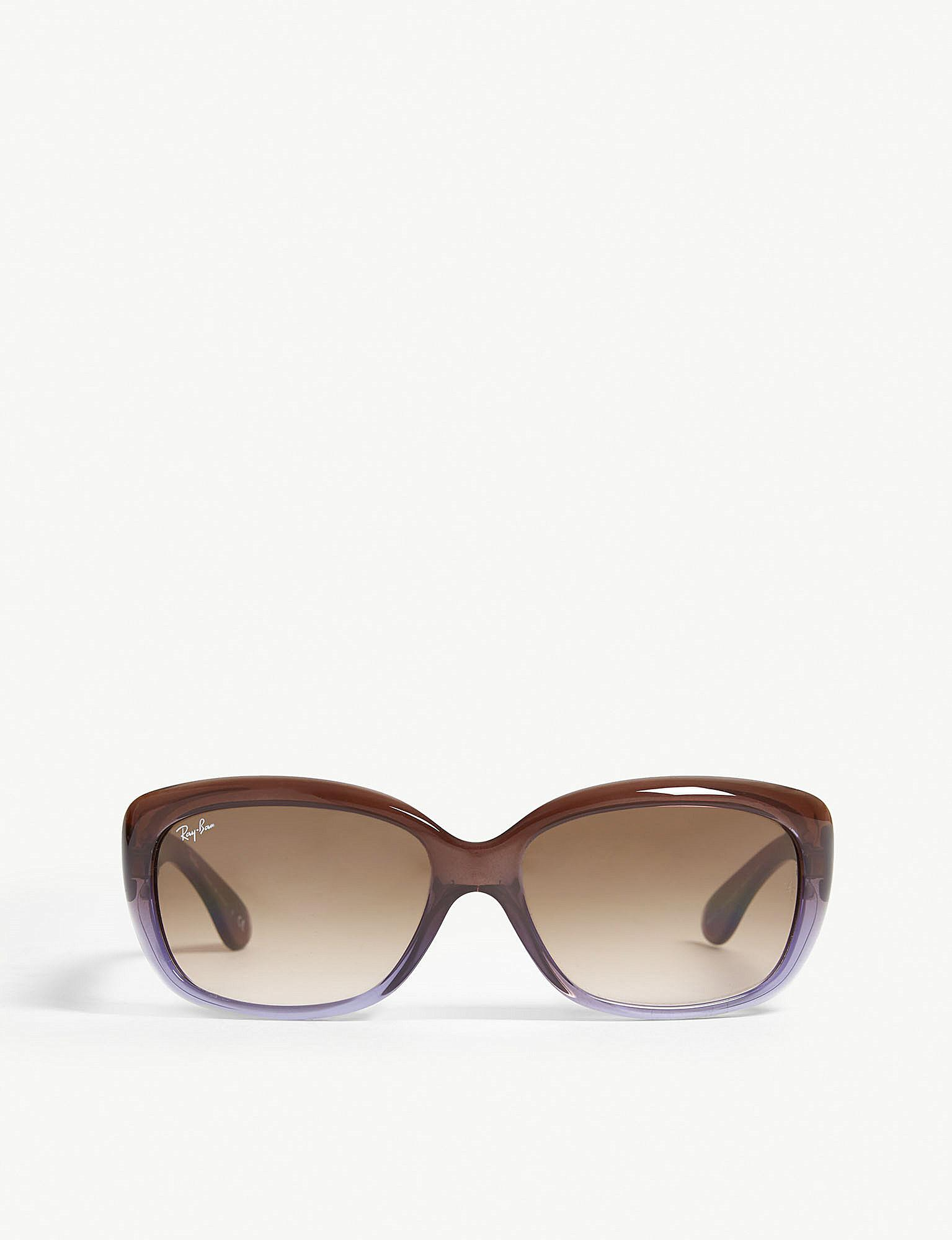 80caf2a4897 Lyst - Ray-Ban Rb4101 Jackie Ohh Rectangle-frame Sunglasses in Brown