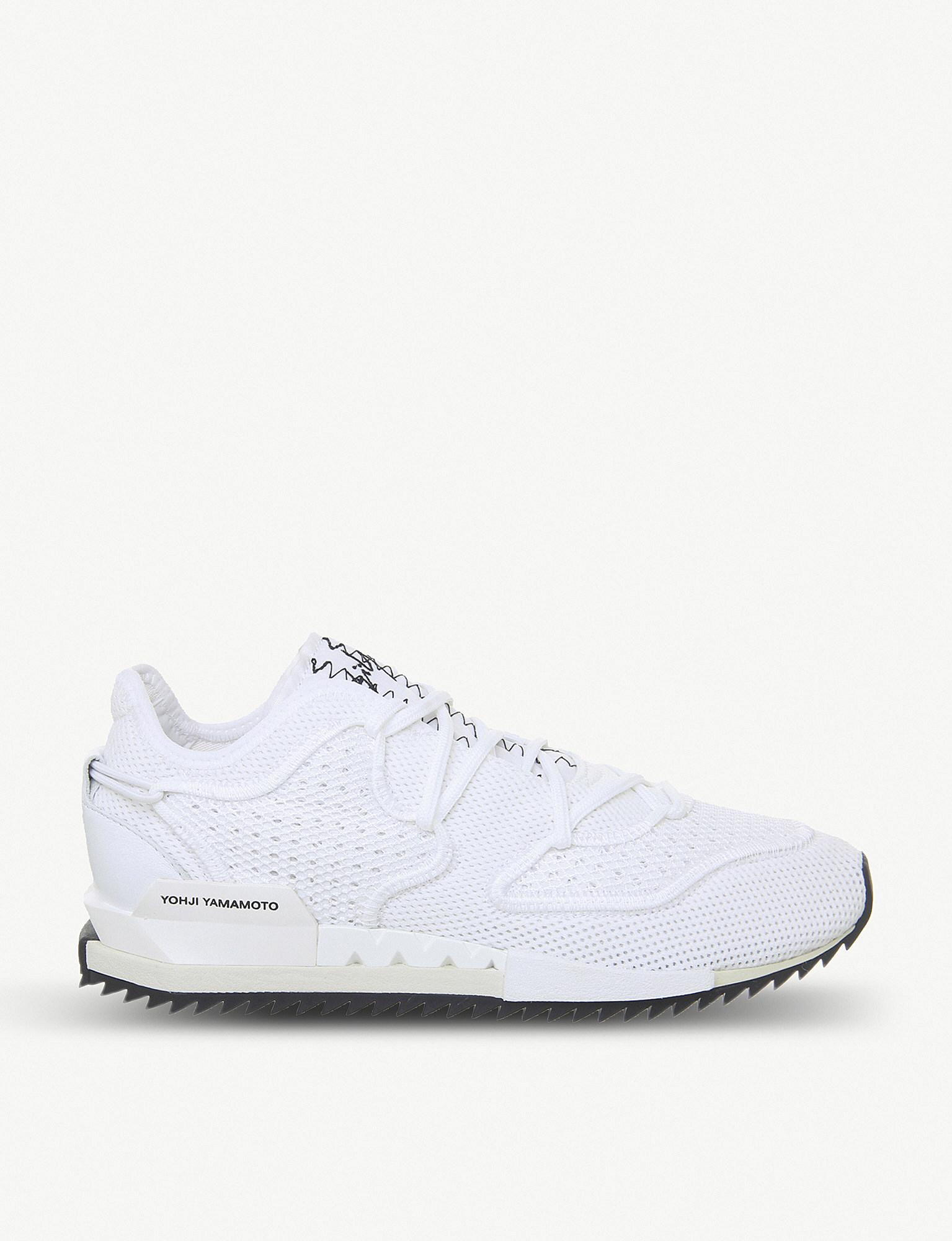 d8403d305 Y-3 Harigane Ii Primeknit Trainers in White for Men - Lyst