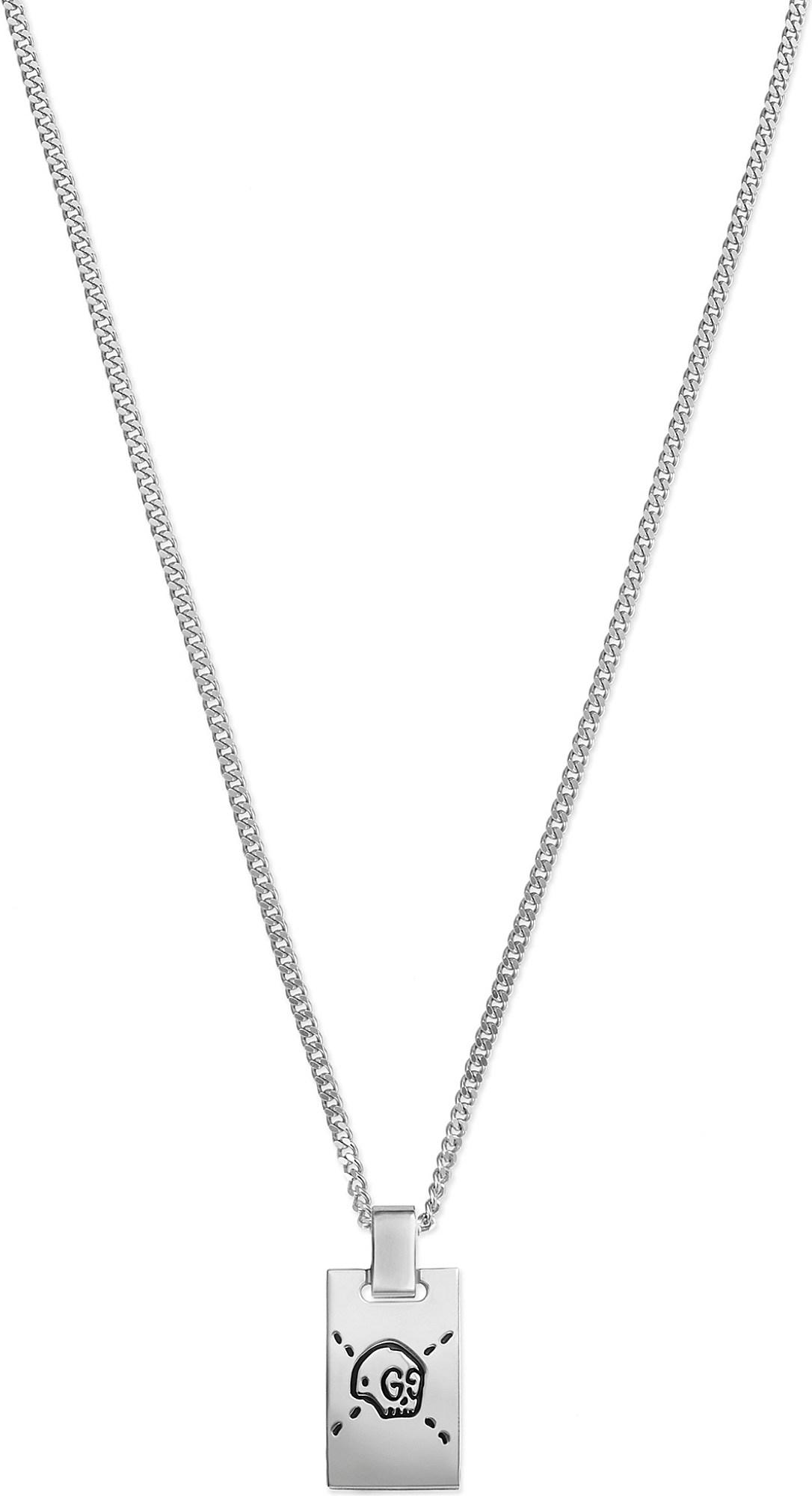 d0337259d Gucci Ghost Sterling Silver Skull Necklace in Metallic - Lyst