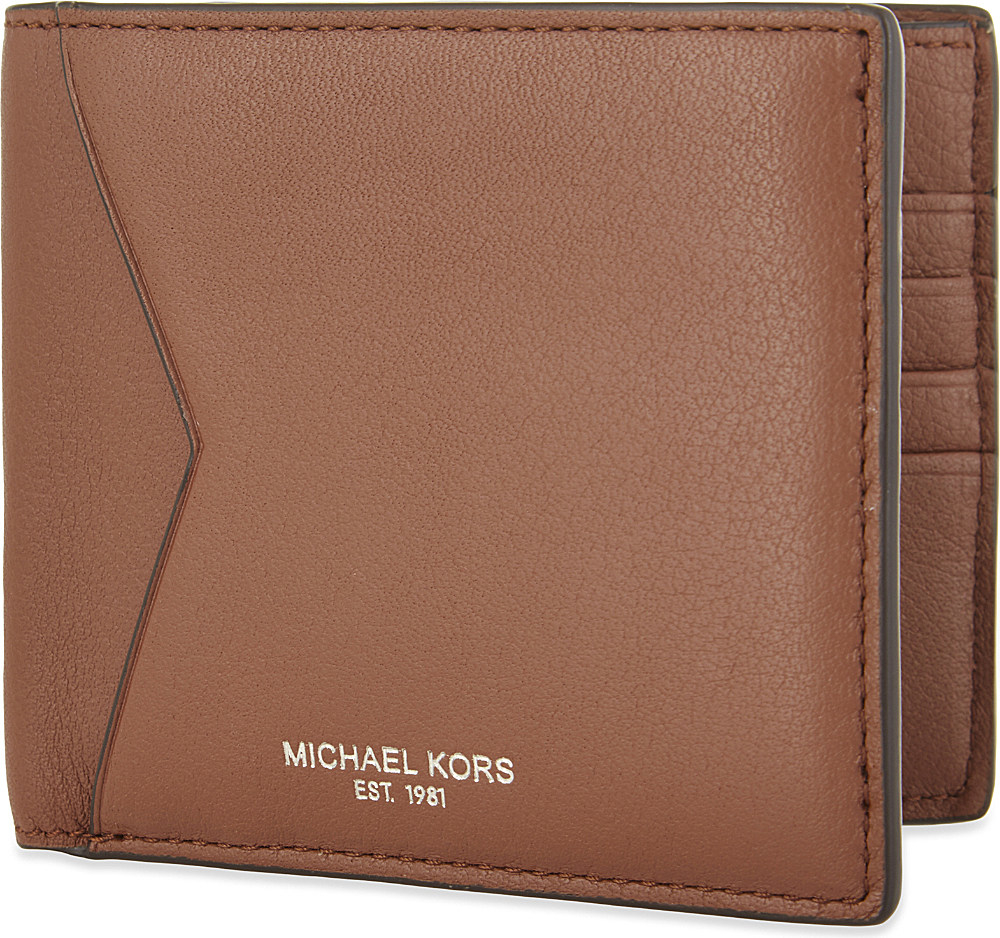 26bb073eb02c6c Michael Kors Bryant Leather Billfold Wallet in Brown for Men - Lyst