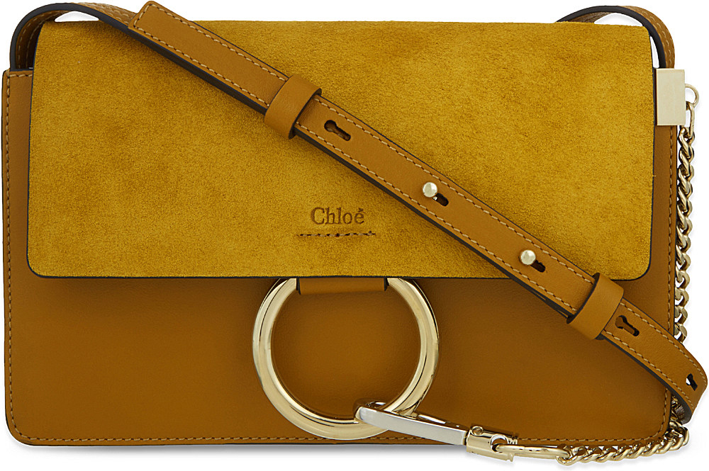 chloe purse prices - Chlo�� Faye Small Leather Shoulder Bag in Yellow (/M/u/s/t/a/r/d ...
