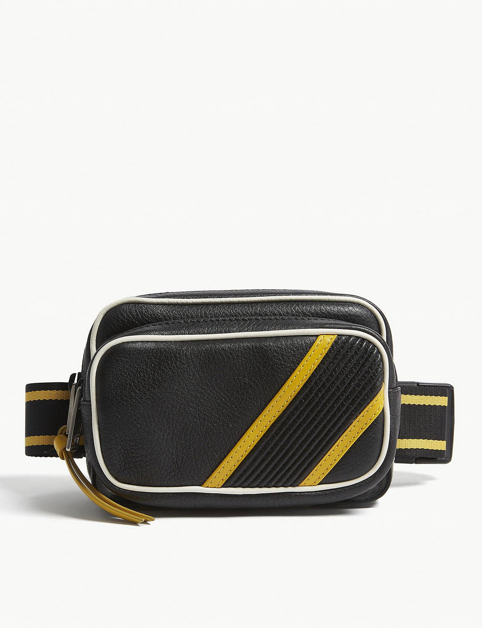Lyst - Givenchy Mc3 Textured-leather Bumbag in Black for Men 224cdf1fda