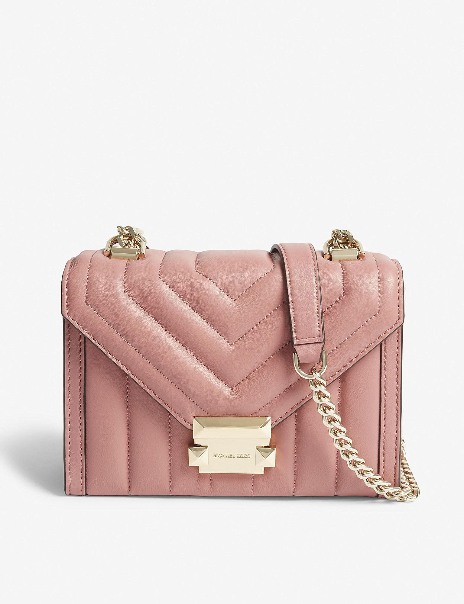 04df2ac0c07f Lyst - MICHAEL Michael Kors Whitney Small Leather Shoulder Bag in Pink