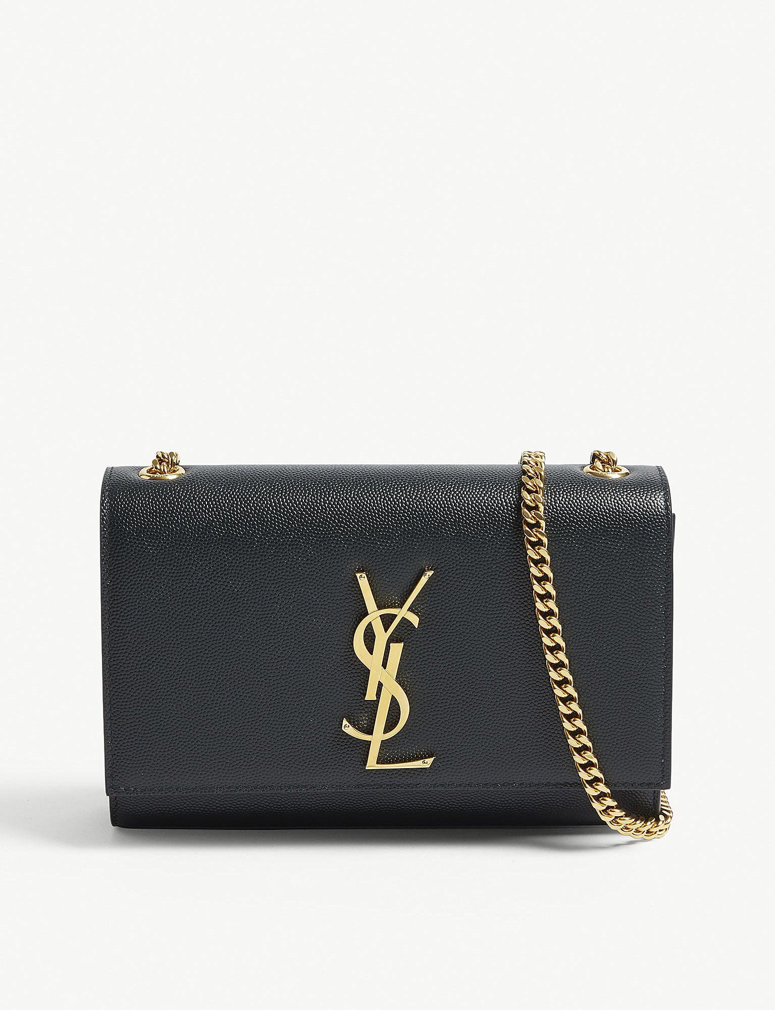 0674ecf5fbadd Saint Laurent. Women s Deep Green Kate Monogram Grained Leather Cross-body  Bag
