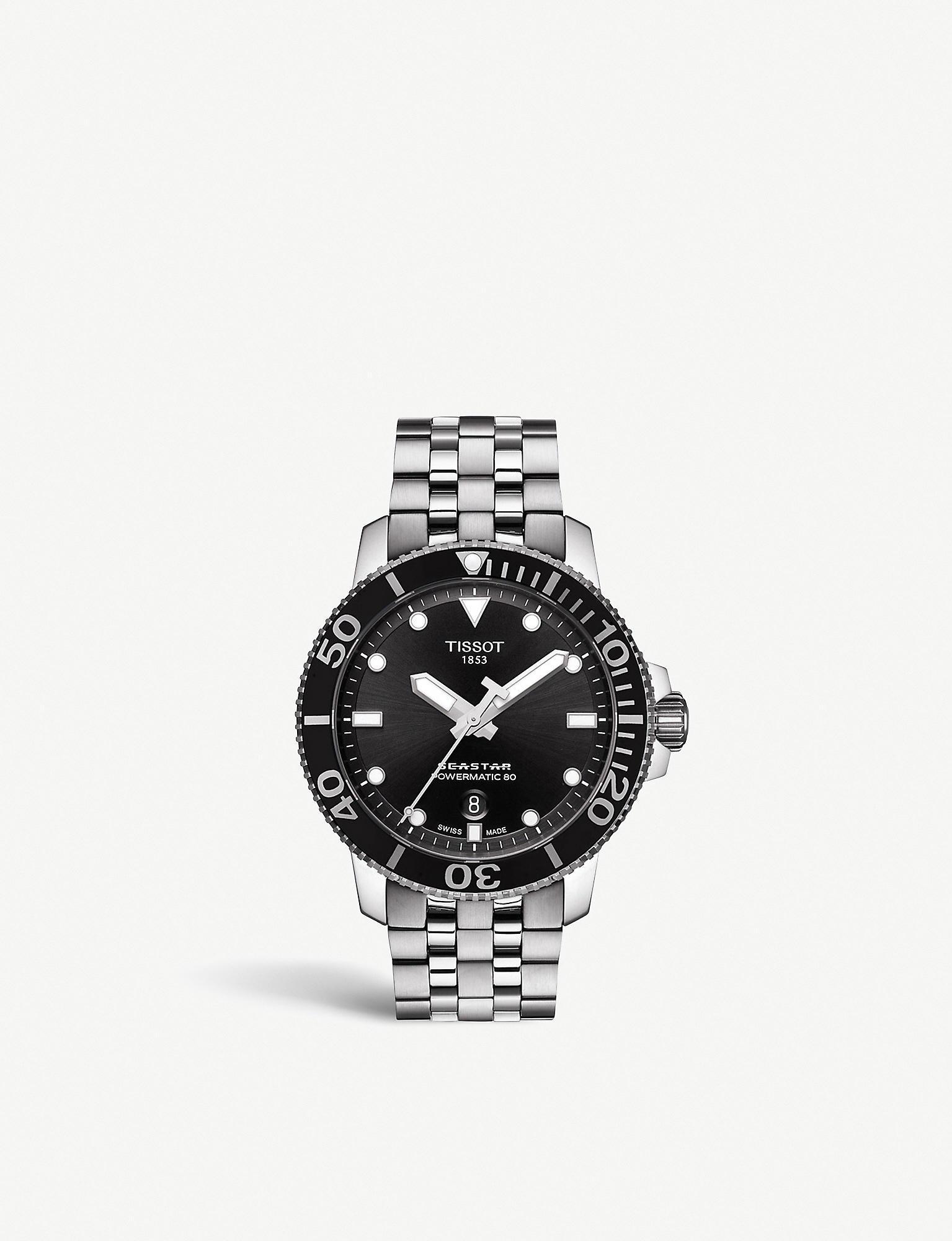ff2ccff9d Tissot Seastar 1000 Powermatic 80 - T1204071105100 in Gray for Men ...