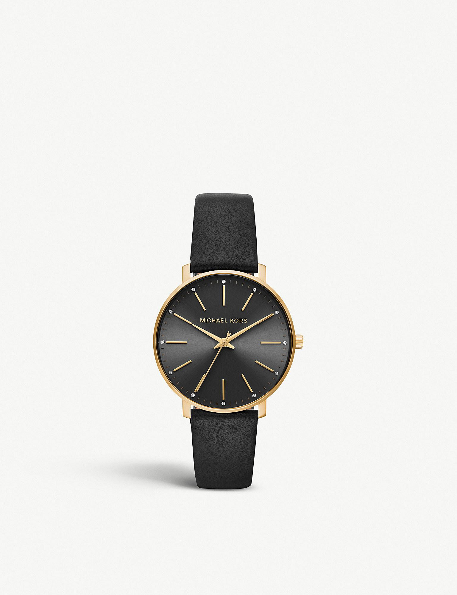a46d7738ceb3 Michael Kors - Mk2747 Pyper Yellow-gold Stainless Steel And Leather Watch -  Lyst. View fullscreen