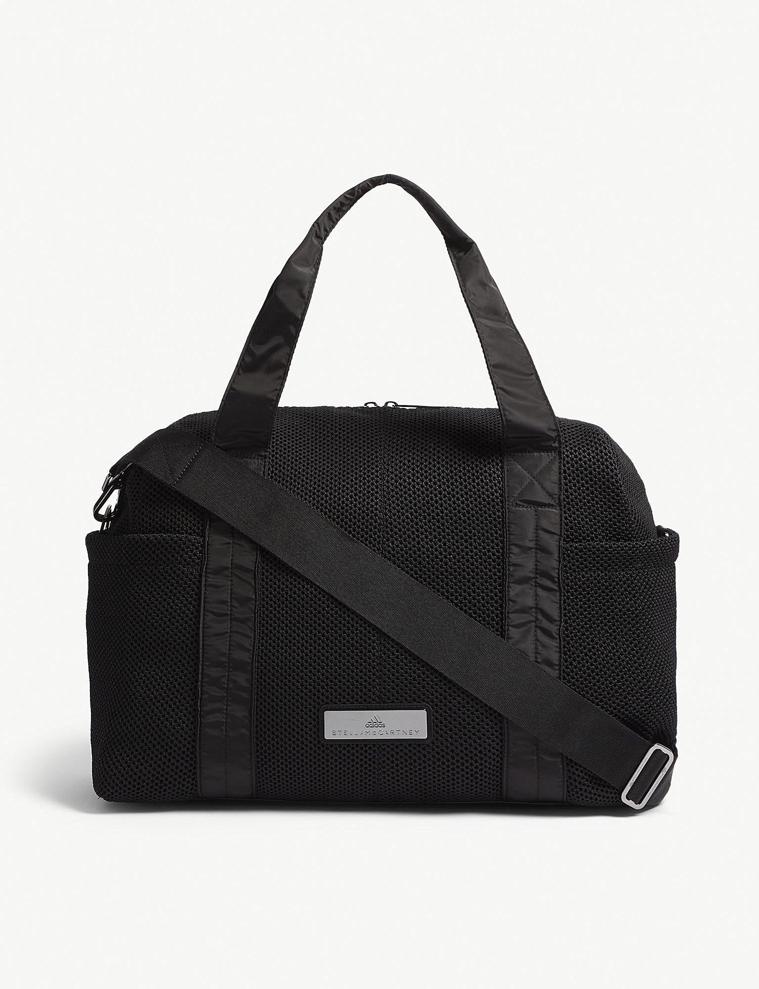 b712b5fc3948 Lyst - adidas By Stella McCartney Shipshape Mesh Gym Bag in Black