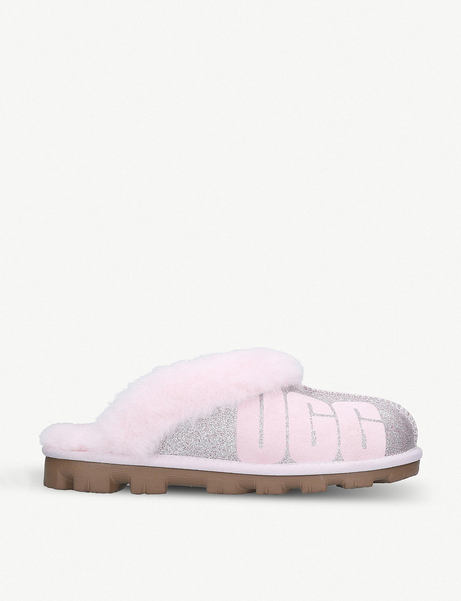 a2fa138b449 Ugg Coquette Sparkle Suede And Sheepskin Slippers in Pink - Lyst