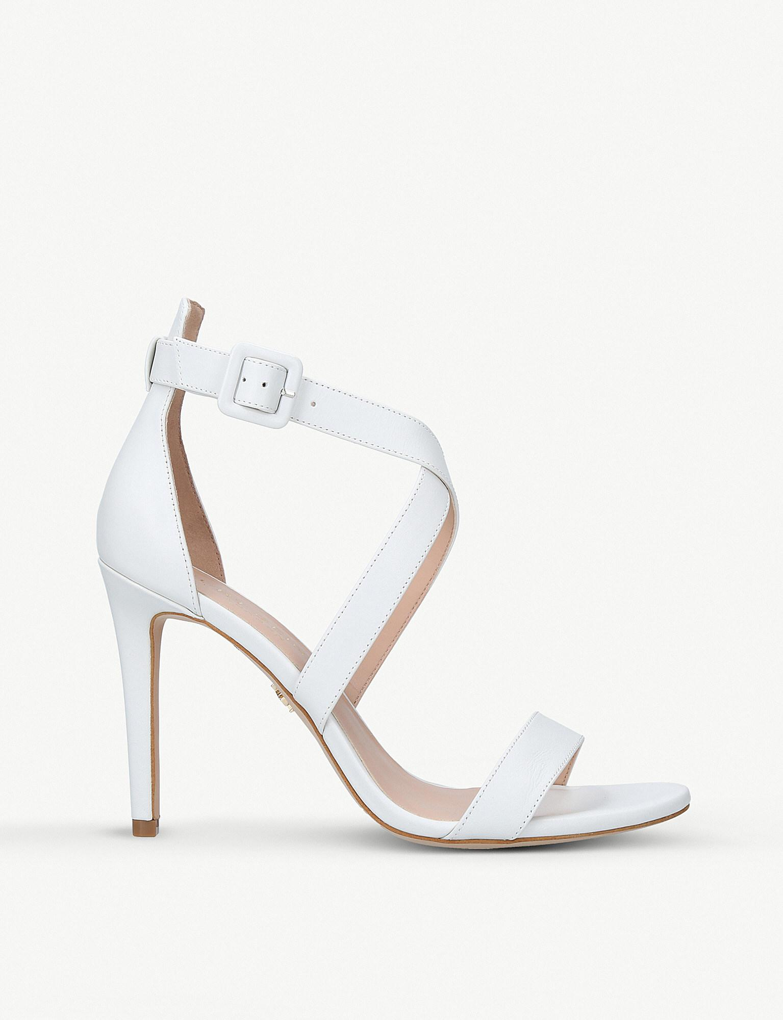 Discount Cheapest Price Kurt Geiger Women's Knightsbridge Cross Strap Leather Heeled Sandals Free Shipping Sale Buy Cheap Professional Cheap Excellent LPCoFm