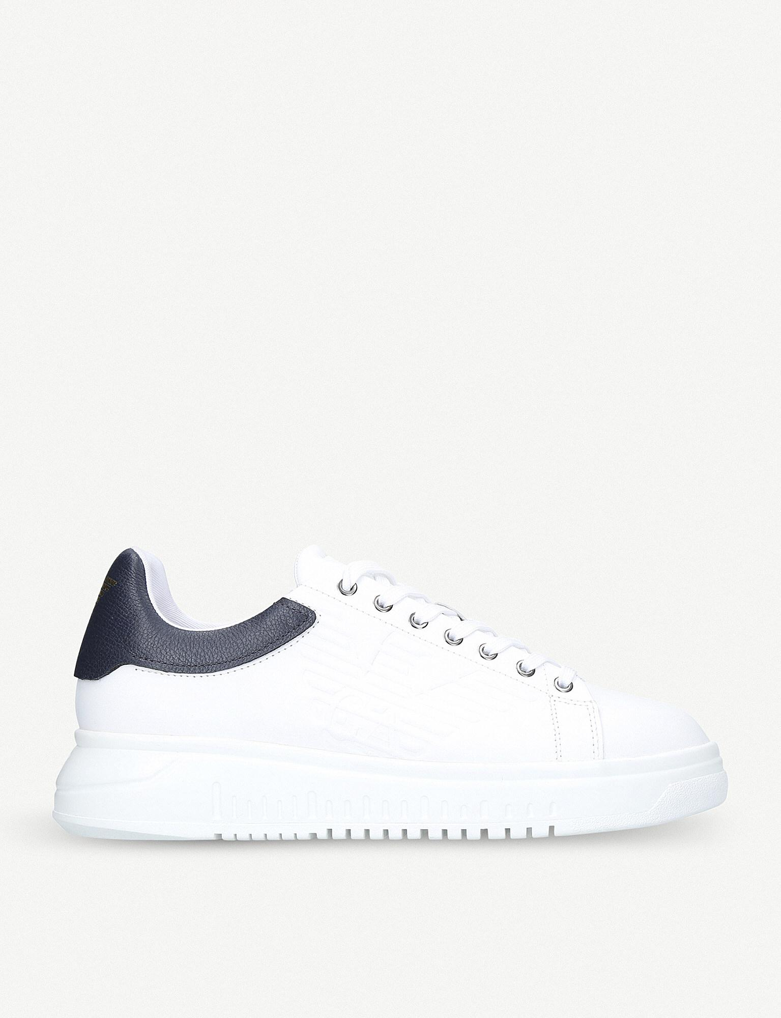 Armani Icon White For In Trainers Lyst Men Leather Eagle Giorgio vwn0mN8