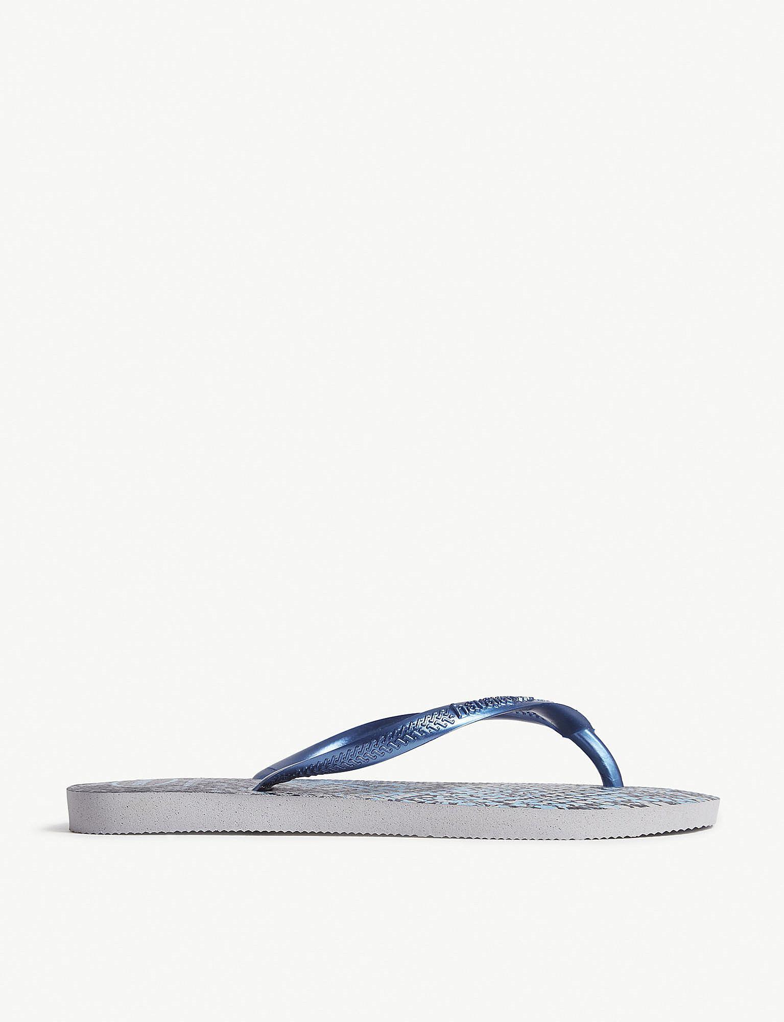 915b051b6 Lyst - Havaianas Slim Rubber Flip-flops in Blue