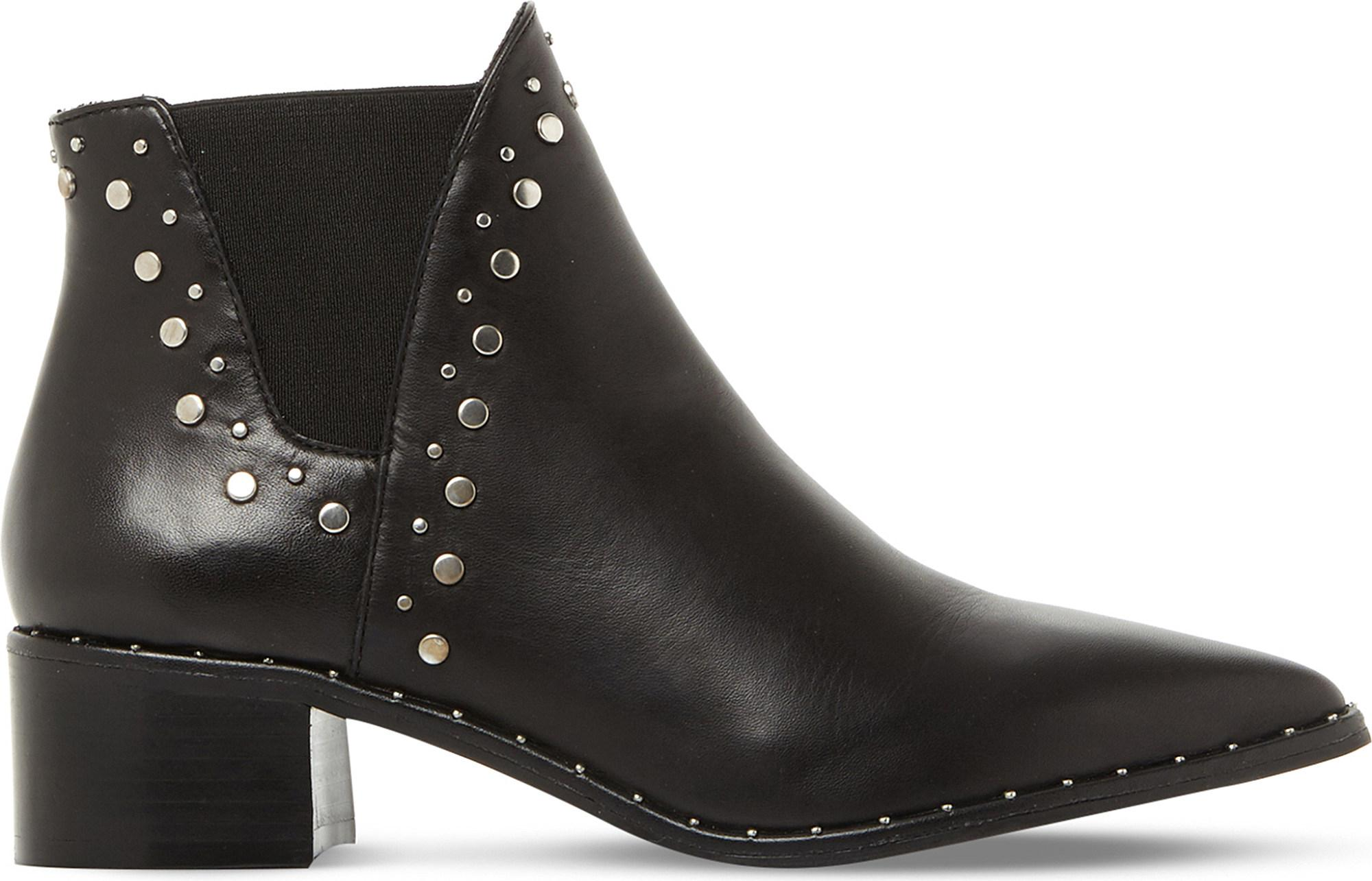 171f0ff859b Steve Madden Doruss Sm Leather Studded Ankle Boots in Black - Save ...