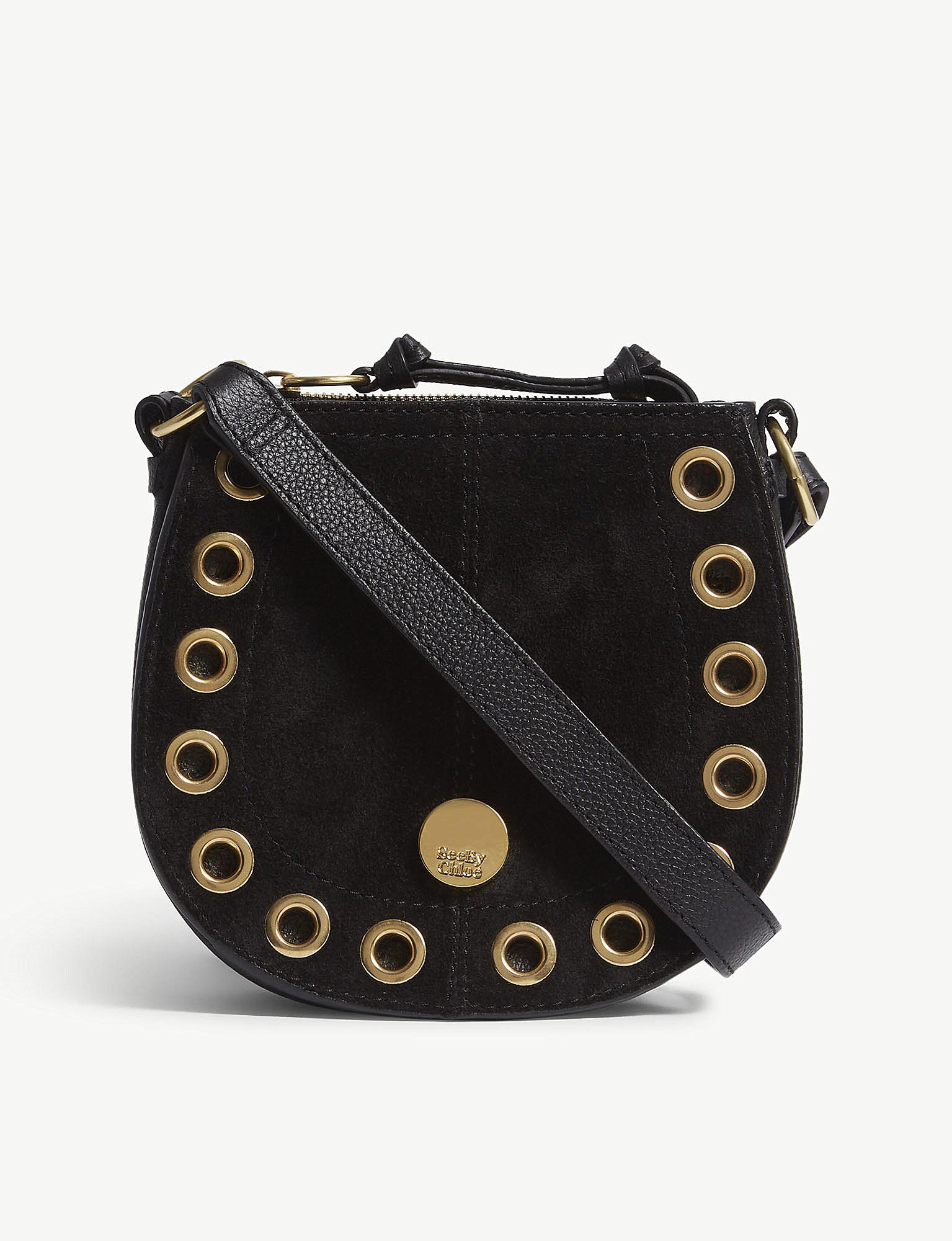 3e5ec7b8ba See By Chloé Kriss Mini Eyelet-embellished Textured-leather And ...