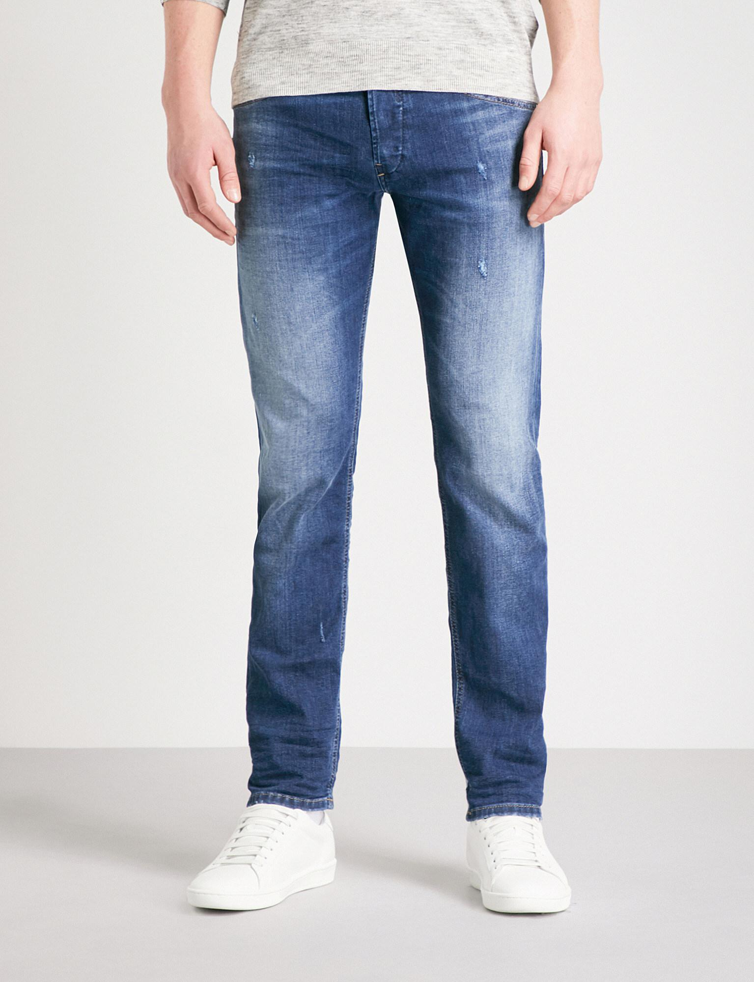 DIESEL. Men's Blue Belther Regular-fit Tapered Jeans