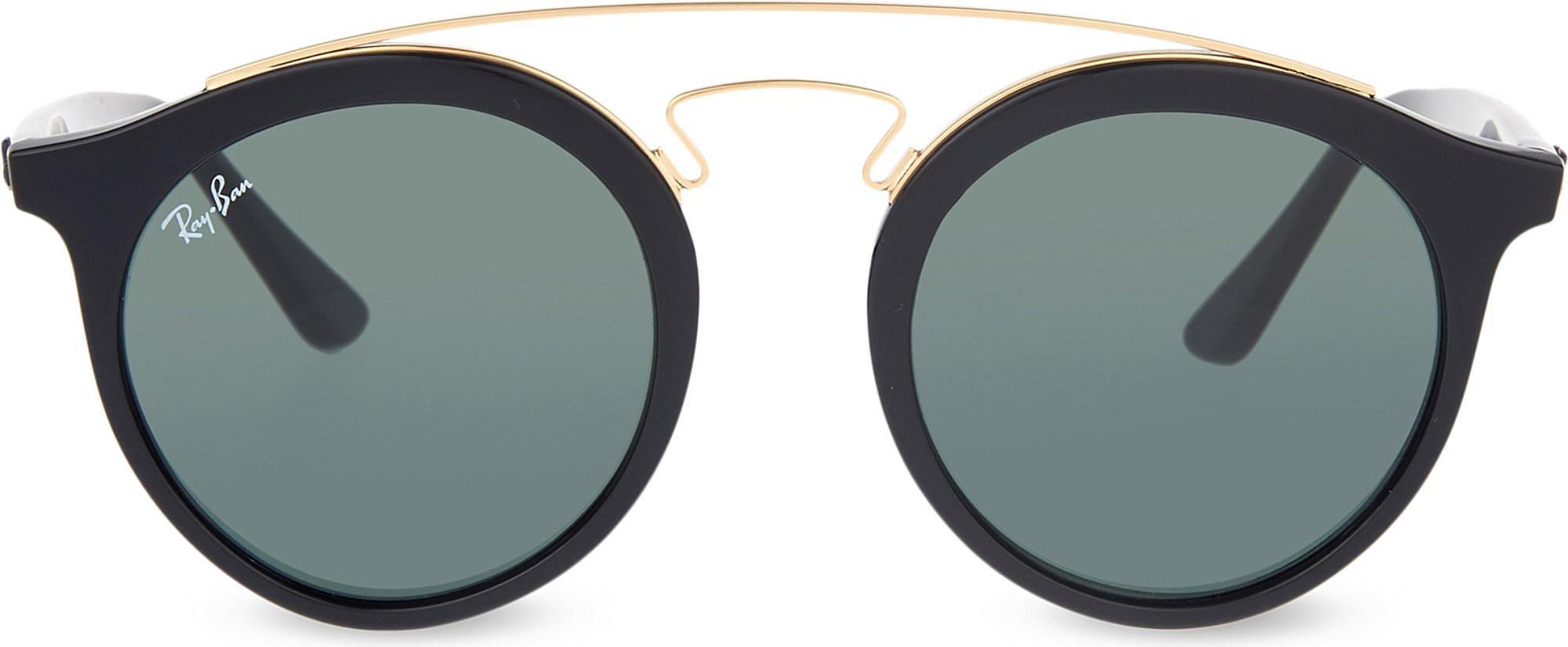 db34e18eba6b7 Lyst - Ray-Ban Rb4256 Round-frame Sunglasses in Black