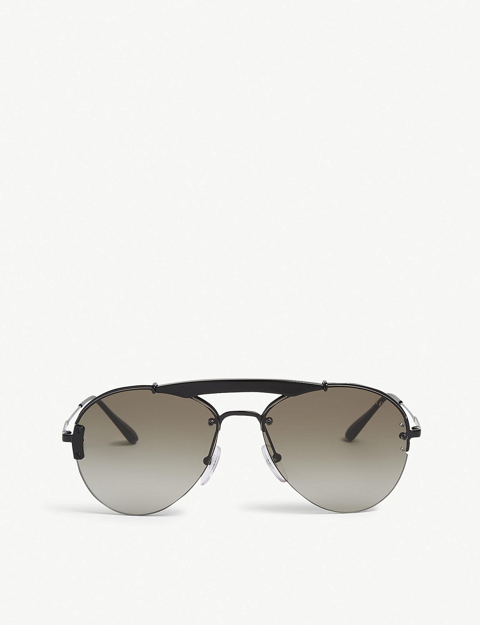 0a9eefad3279 ... ebay lyst prada pr62us pilot sunglasses in black for men 5cb2d a6a15 ...