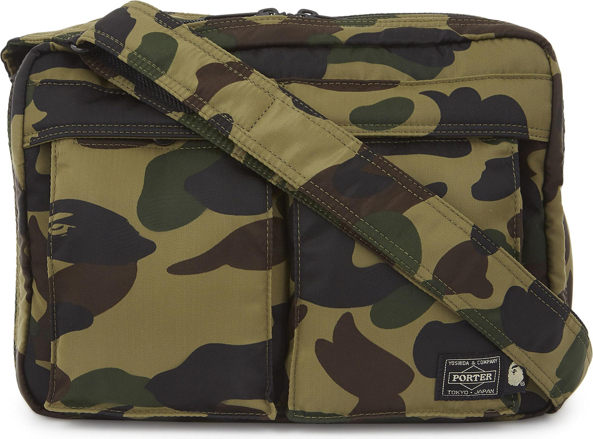 97888e41a0 Lyst - A Bathing Ape 1st Camo Shoulder And Waist Bag in Green for Men