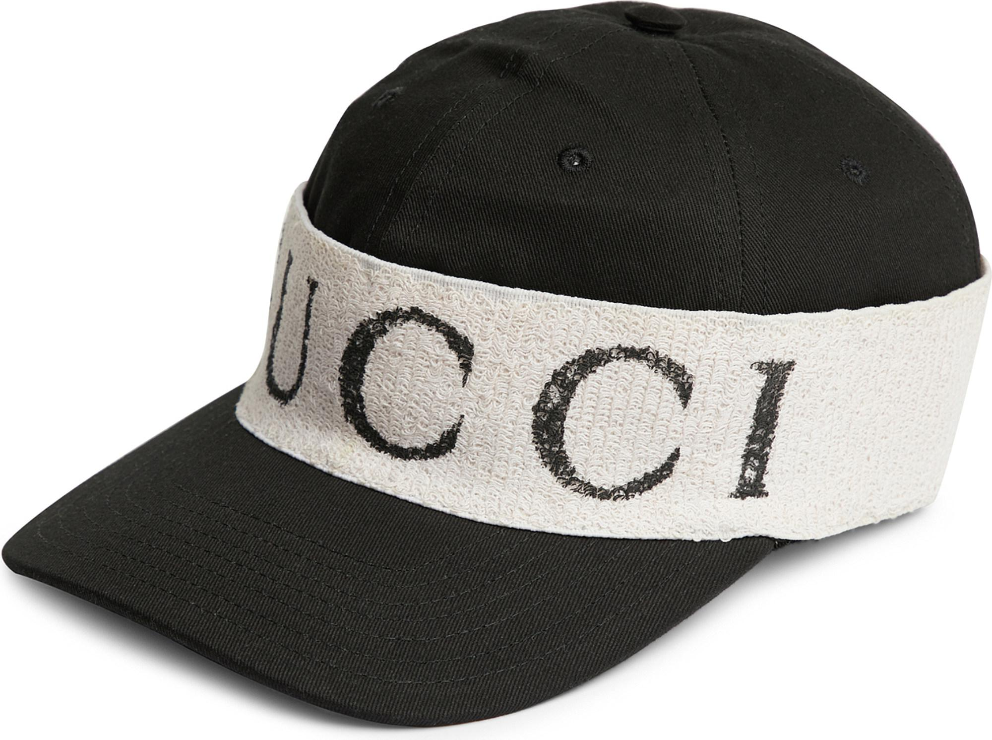 f1e2bad068b Lyst - Gucci Headband-detail Gabardine Baseball Cap in Black for Men