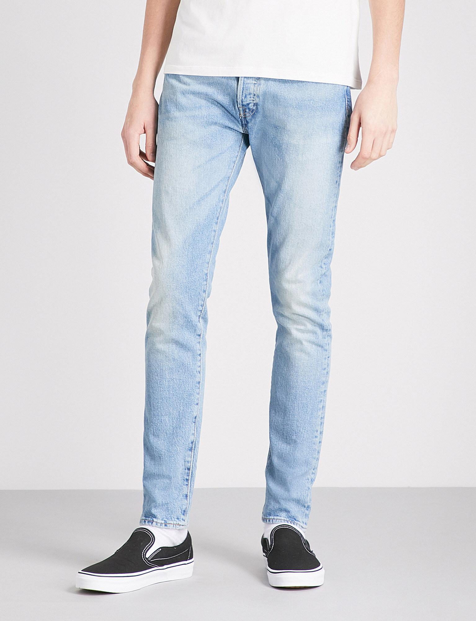 3122631ab5ab Levi's 501 Slim-fit Skinny Jeans in Blue for Men - Lyst