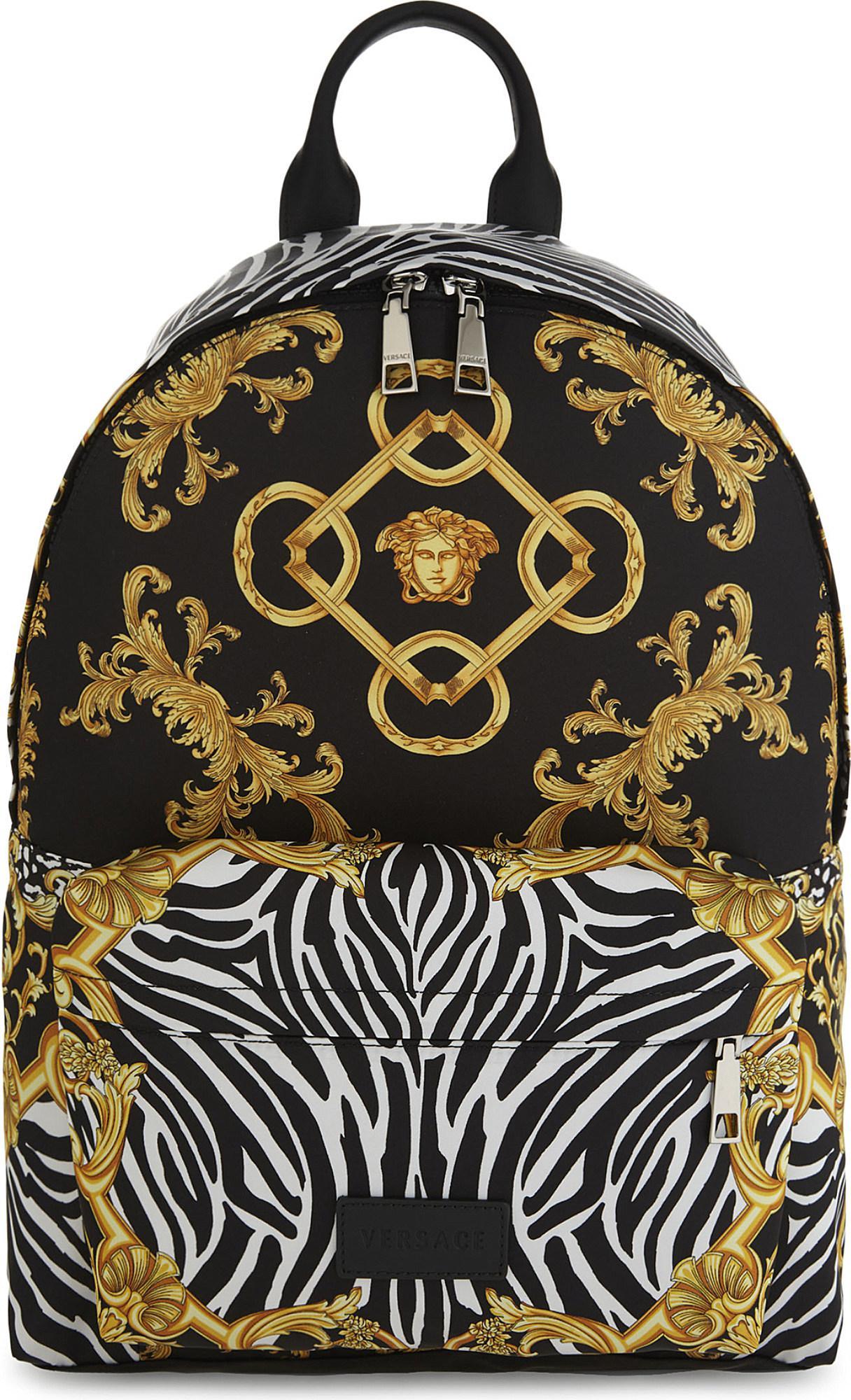2b7b6bd1aa Lyst - Versace Medusa Backpack in Black