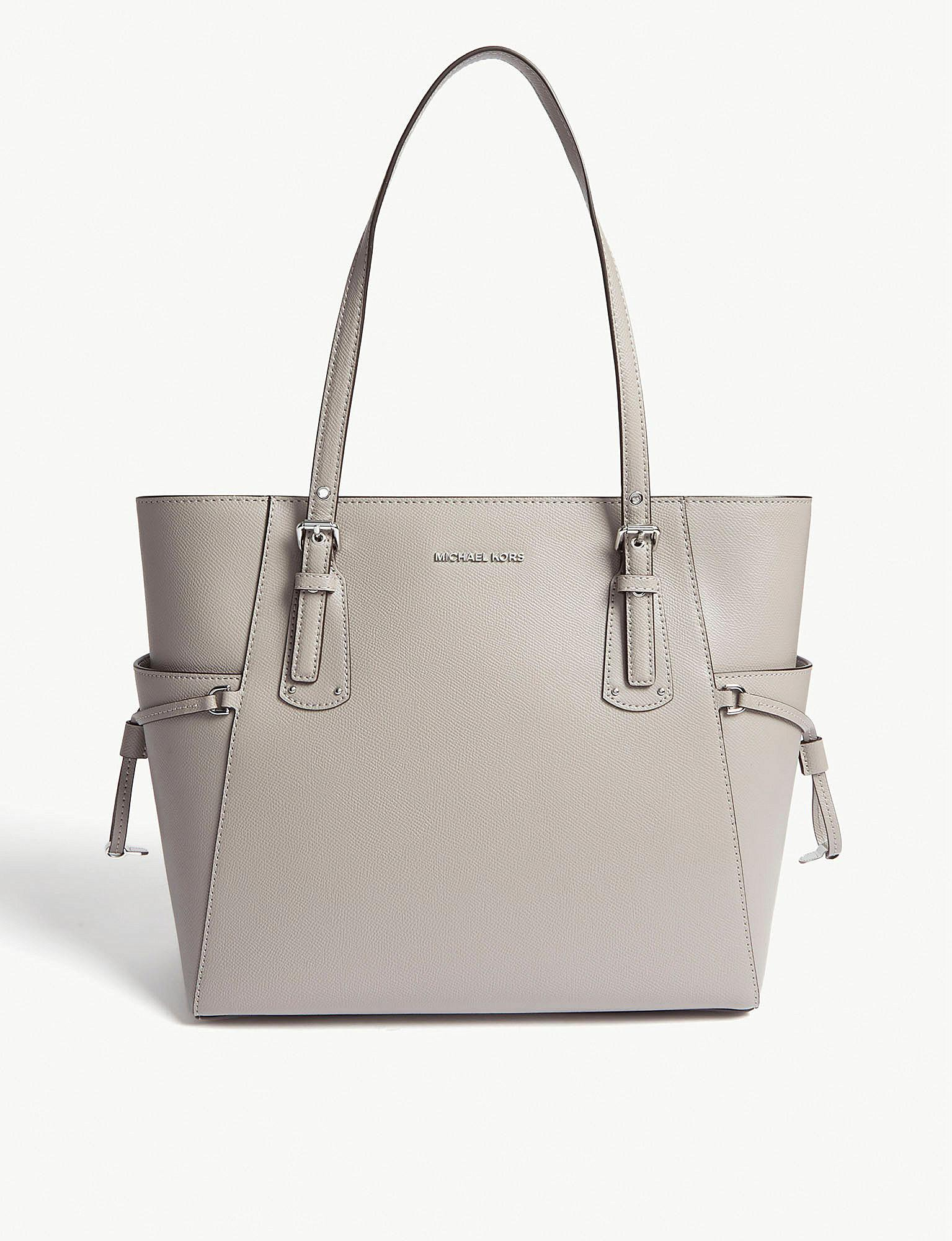 362a53d954 Michael Michael Kors Leather Tote Bag in Gray - Lyst