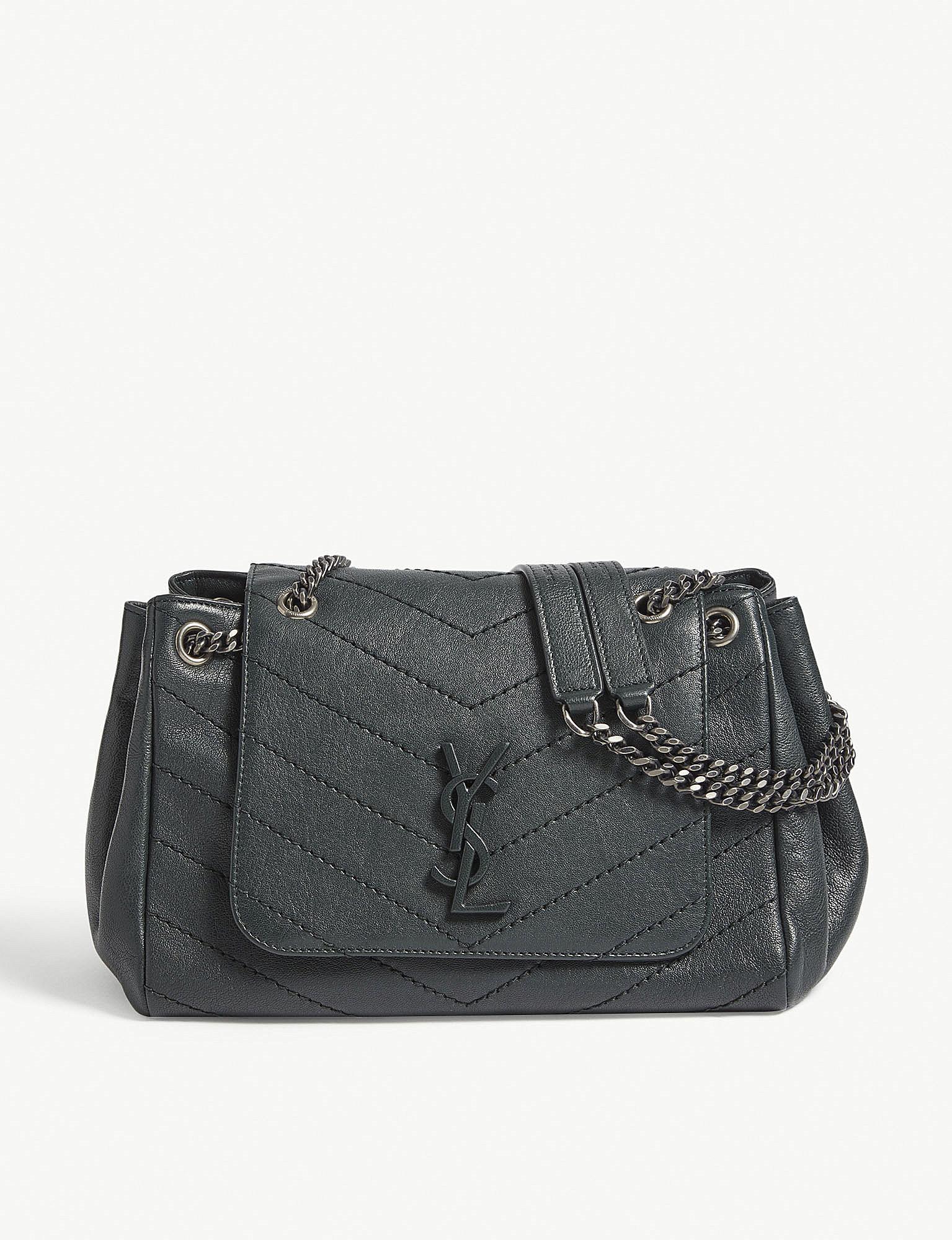 Lyst - Saint Laurent Nolita Monogram Small Leather Shoulder Bag in Black 3866671316779