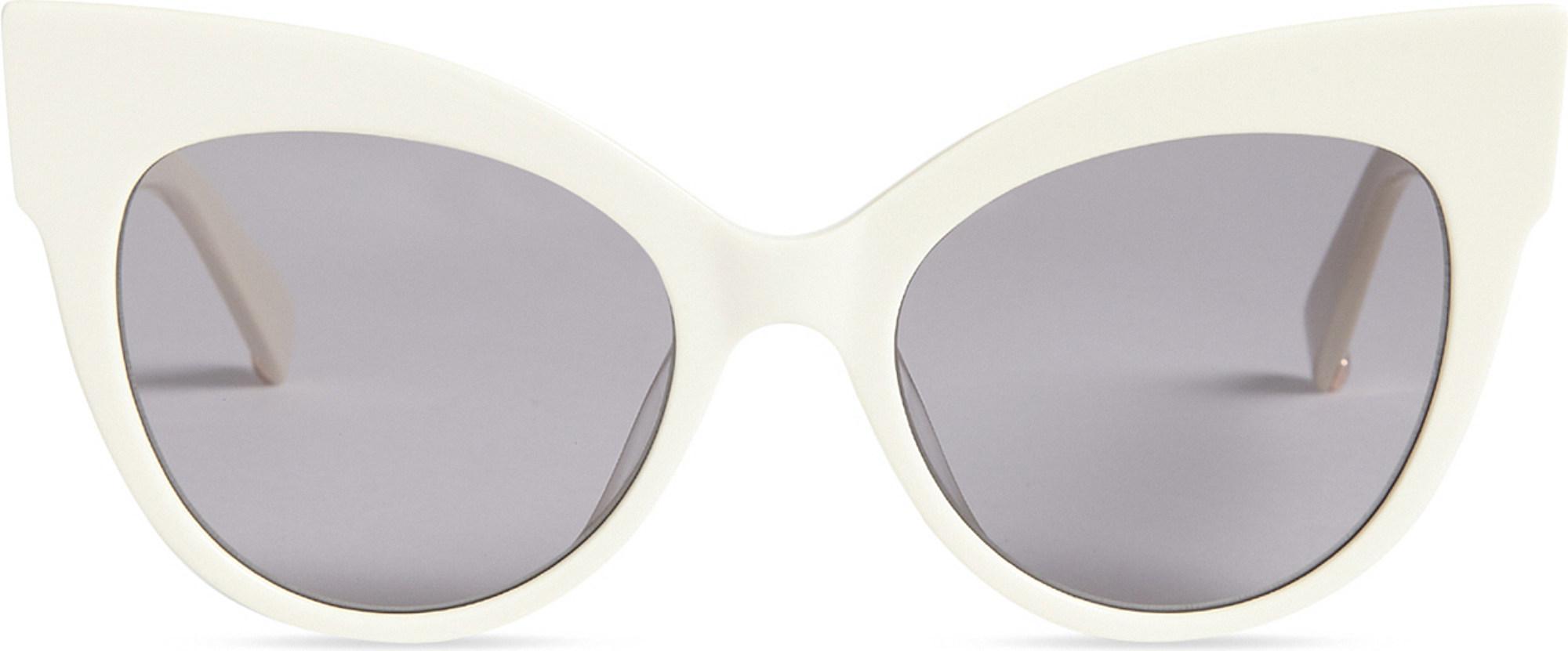 afe969d32a9 Max Mara Anita Cat-eye Sunglasses in White - Lyst