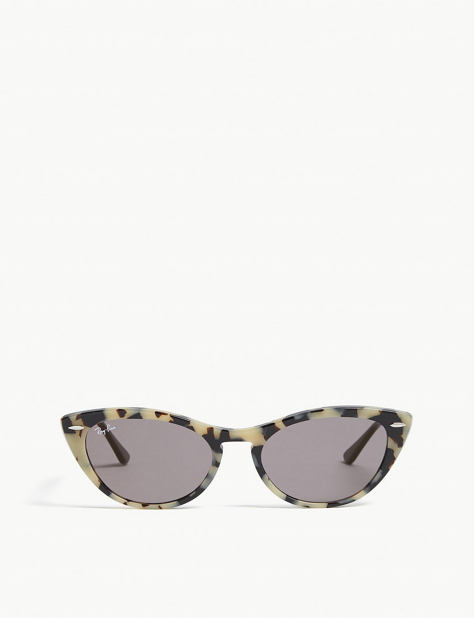 528a646160 Ray-Ban. Women s Havana Rb4314 Cat Eye Sunglasses