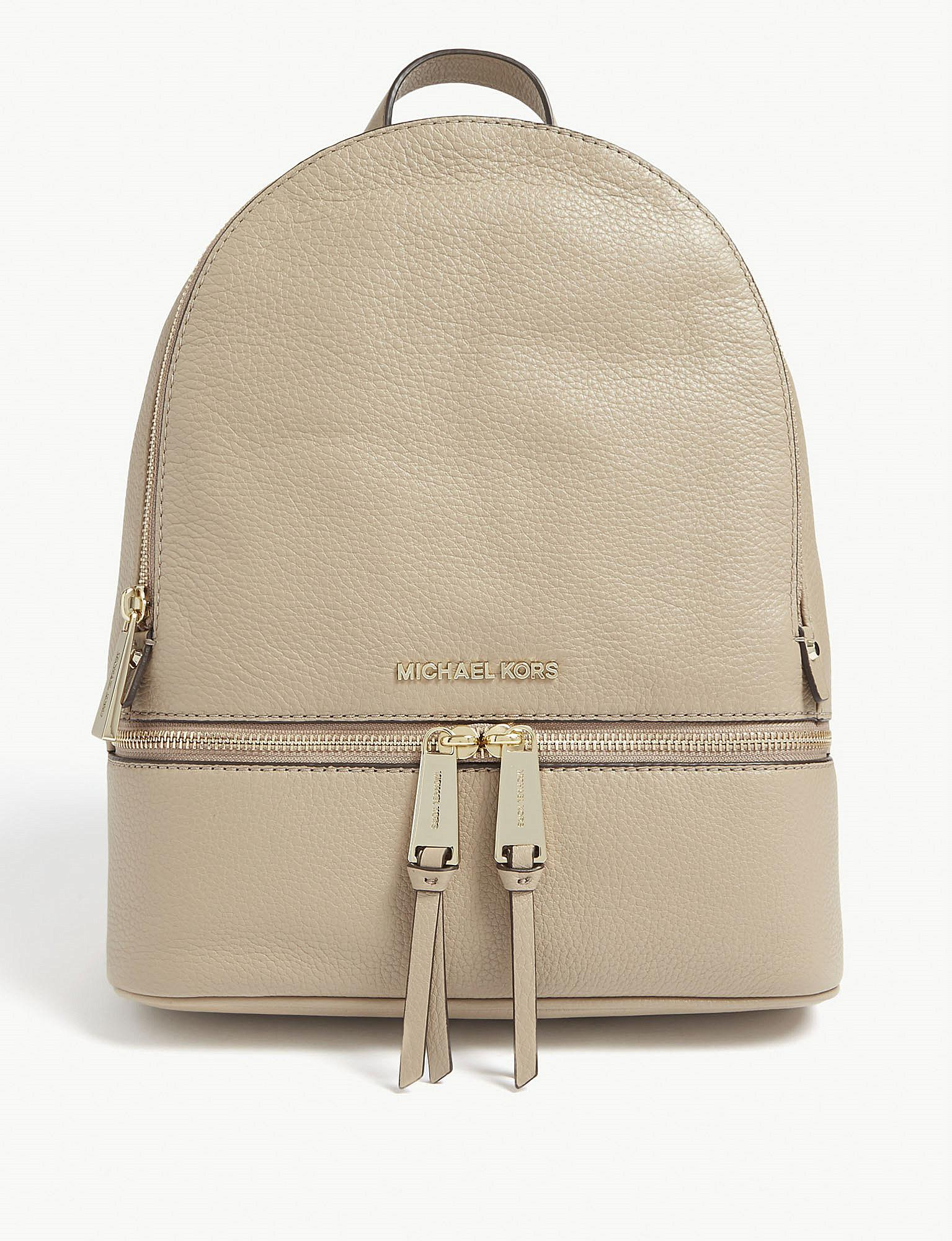 e4cb94f60c02 MICHAEL Michael Kors Rhea Medium Leather Backpack in Natural - Save ...