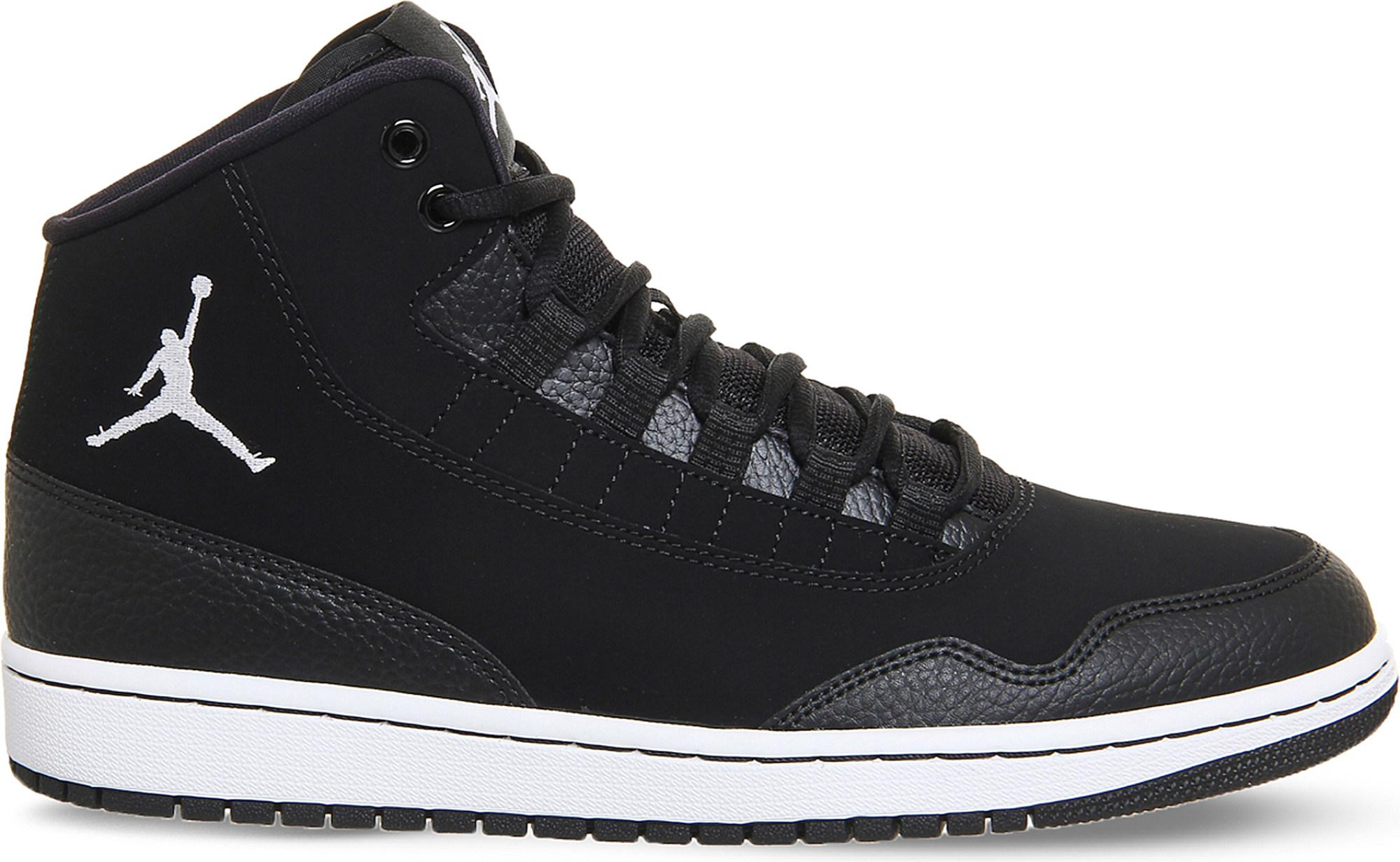 pretty nice 15c14 1a83b Nike Jordan Executive Leather High-top Trainers in Black for Men - Lyst