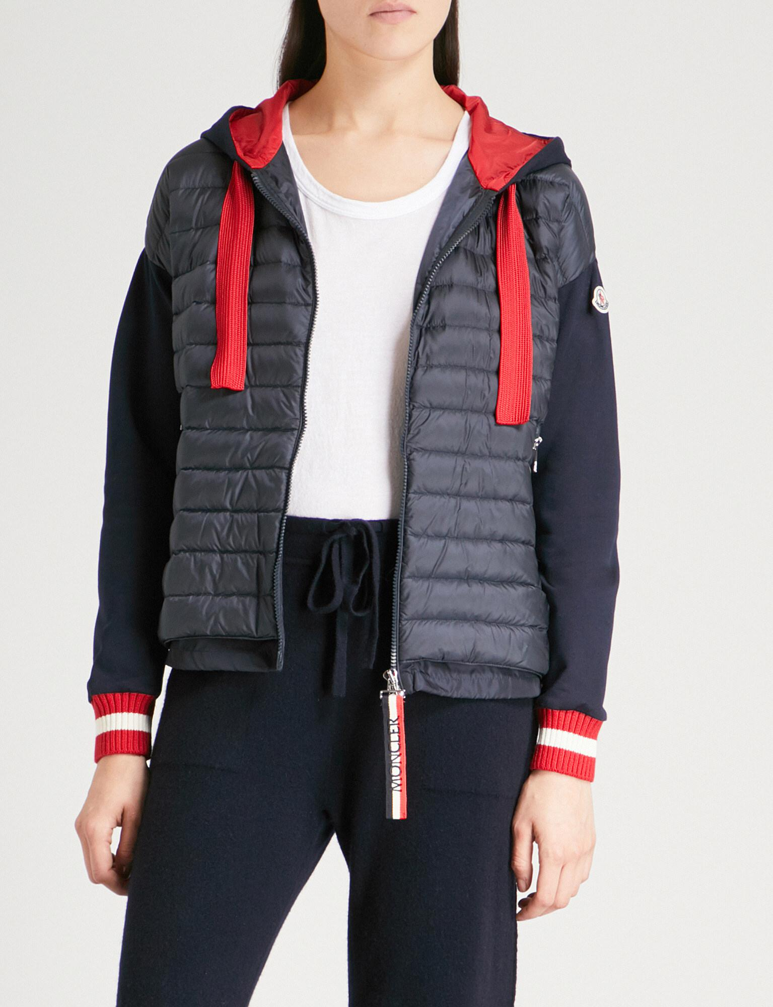 Lyst - Moncler Quilted-panel Hooded Shell And Jersey Jacket b5666097f9f