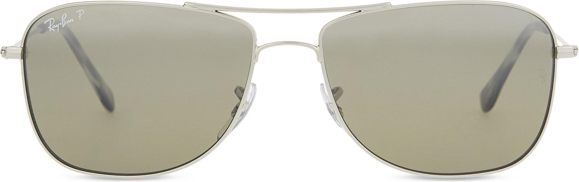 17936052244 Lyst - Ray-Ban Rb3543 Chromance Aviator Sunglasses in Metallic for Men