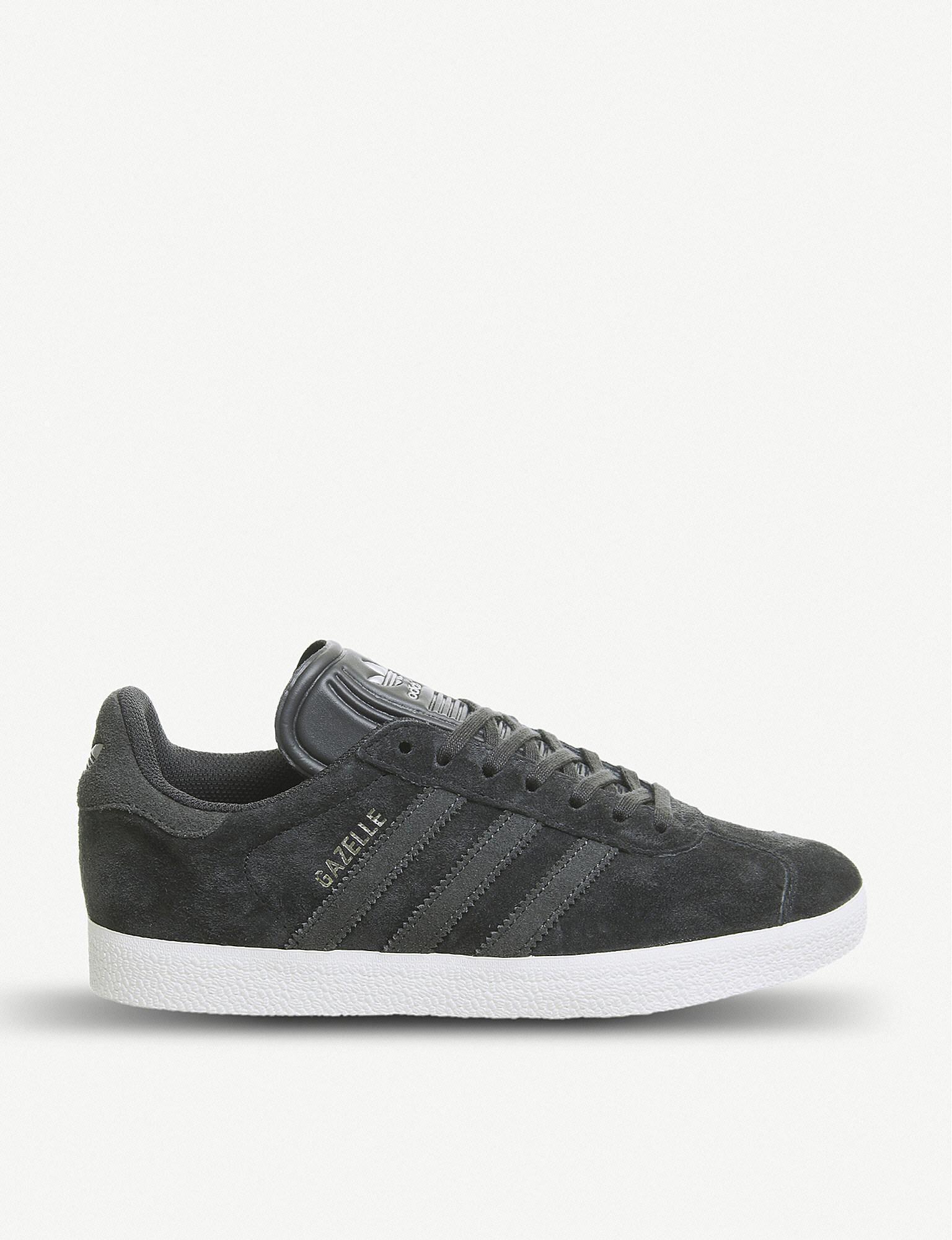 pretty nice 38308 753d8 adidas. Mens Gray Gazelle Suede Trainers