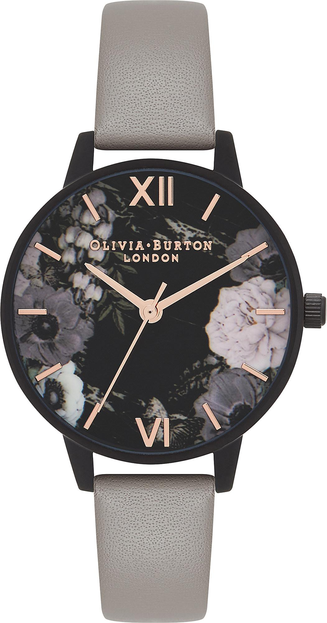 Olivia Burton Ob16ad24 After Dark Rose Gold And Leather Watch Lyst Fossil Es3816 Original Gallery