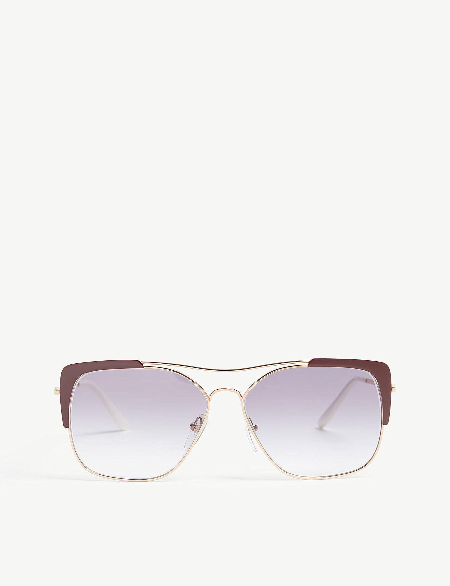 486517e83bd Lyst - Prada Womens Bordeaux Red 0pr 54vs Sunglasses