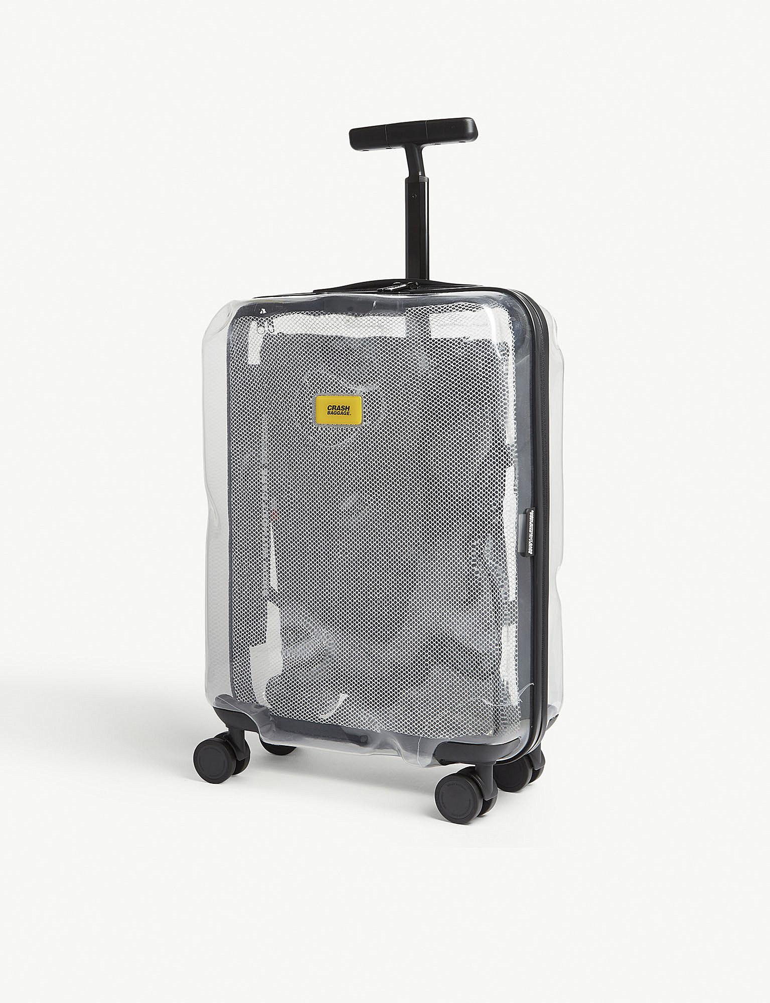 649d9b65e1 Crash Baggage Share Transparent Cabin Suitcase 55cm in Gray for Men ...