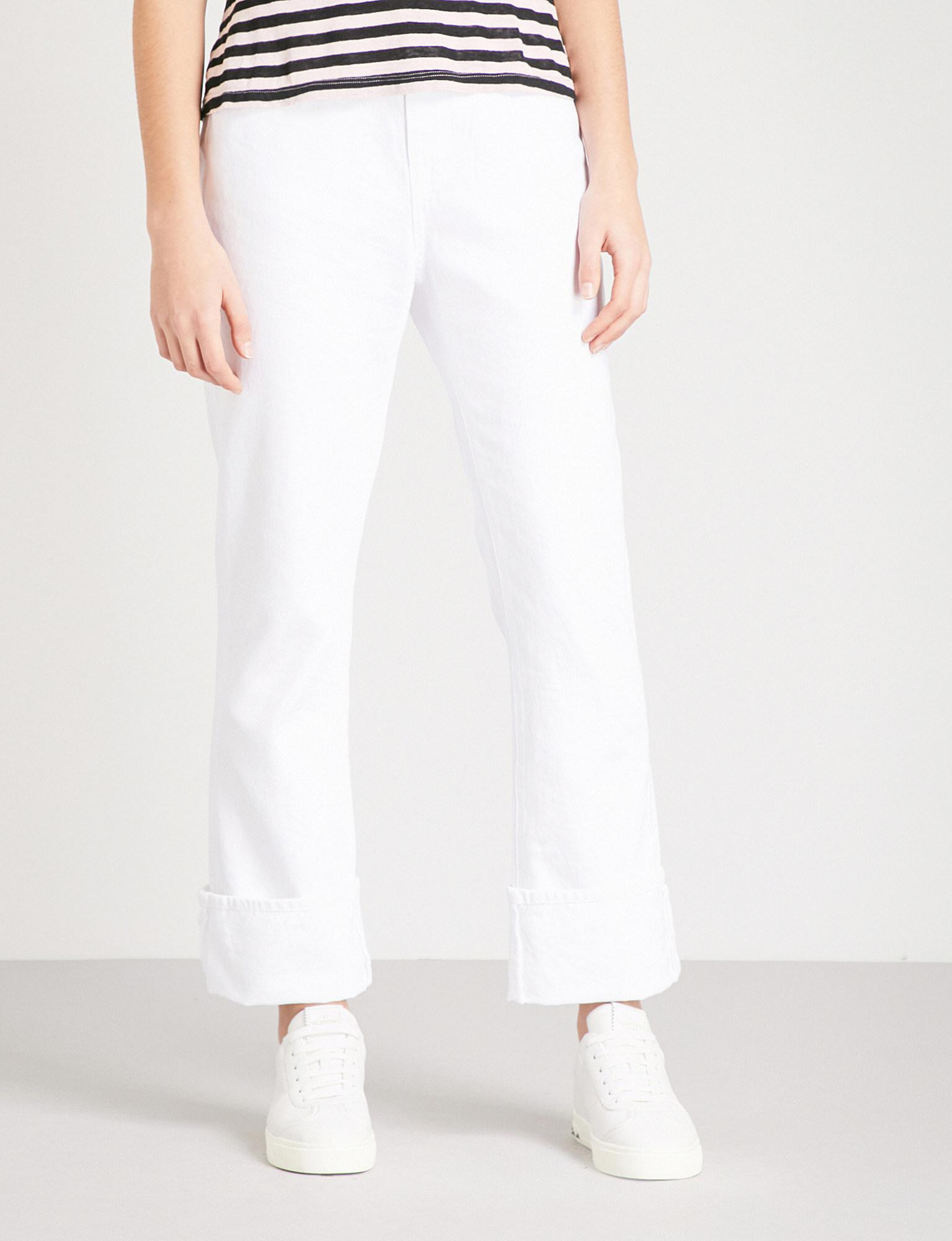 Frame Le Oversized Straight Cropped High Rise Jeans In