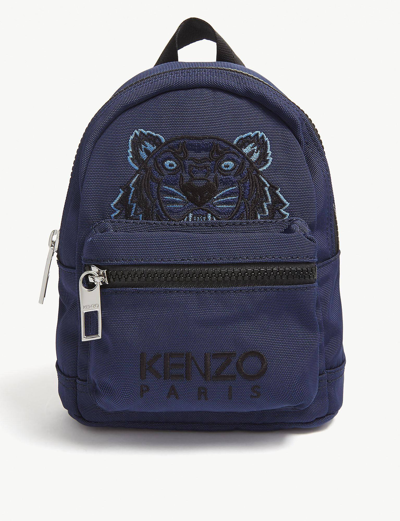 4f9a0661336 KENZO Navy Blue Tiger Print Mini Backpack in Blue - Lyst