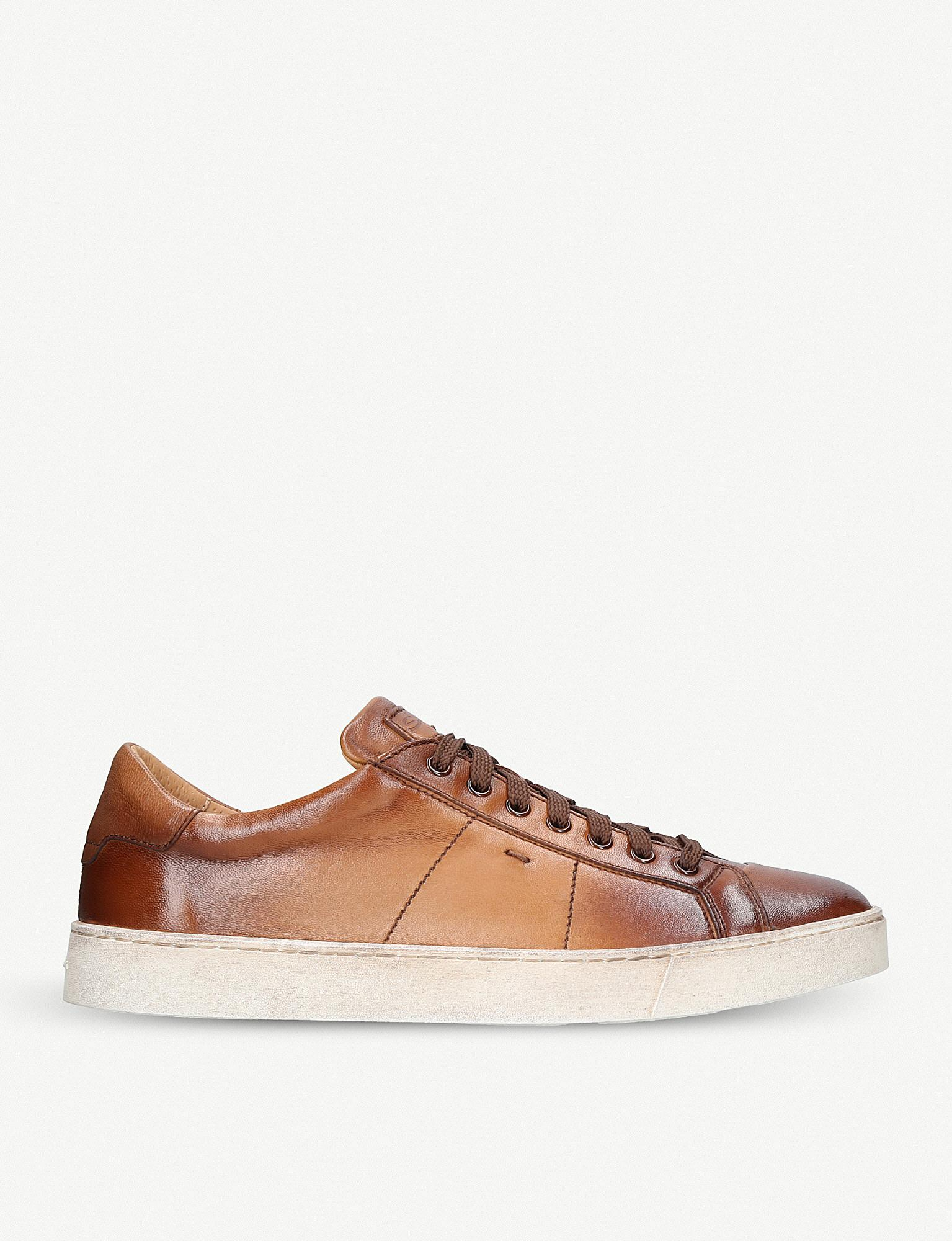 santoni Leather Low Trainers injptsdLy