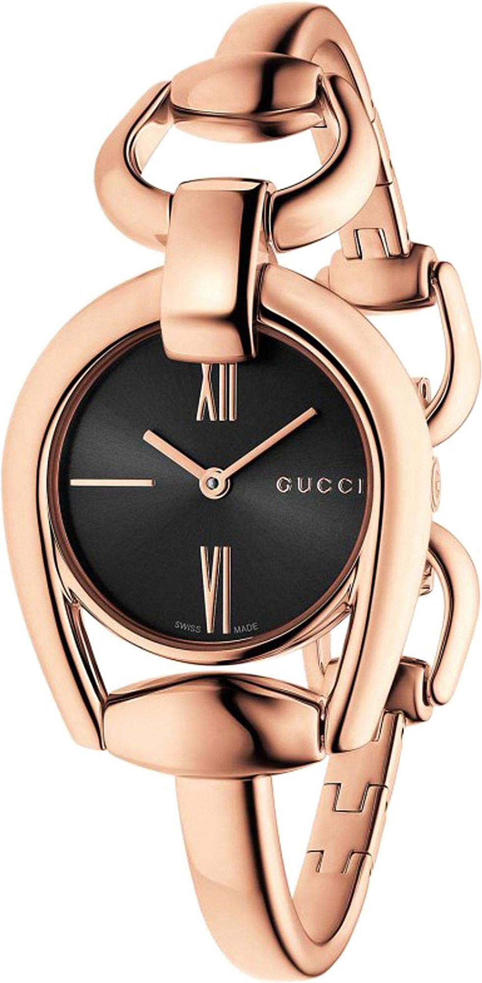 6a5c1effec9 Gucci - Metallic Ya139507 Horsebit Rose-gold Watch - Lyst. View fullscreen