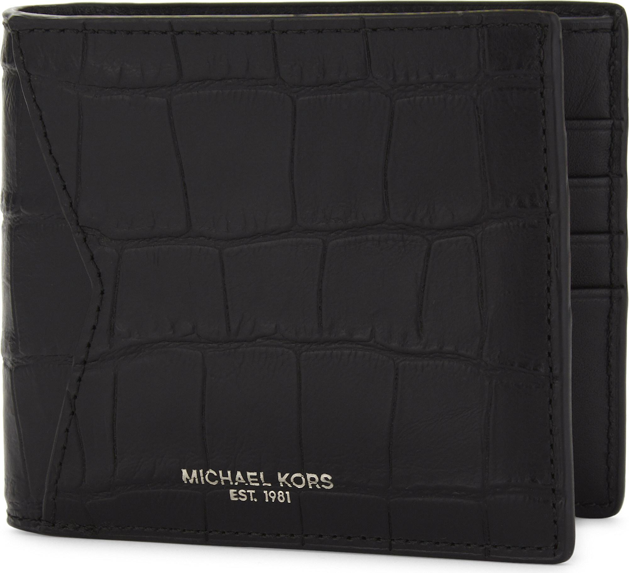 3d0b41465bb46 Lyst - Michael Kors Bryant Billfold Leather Wallet in Black for Men