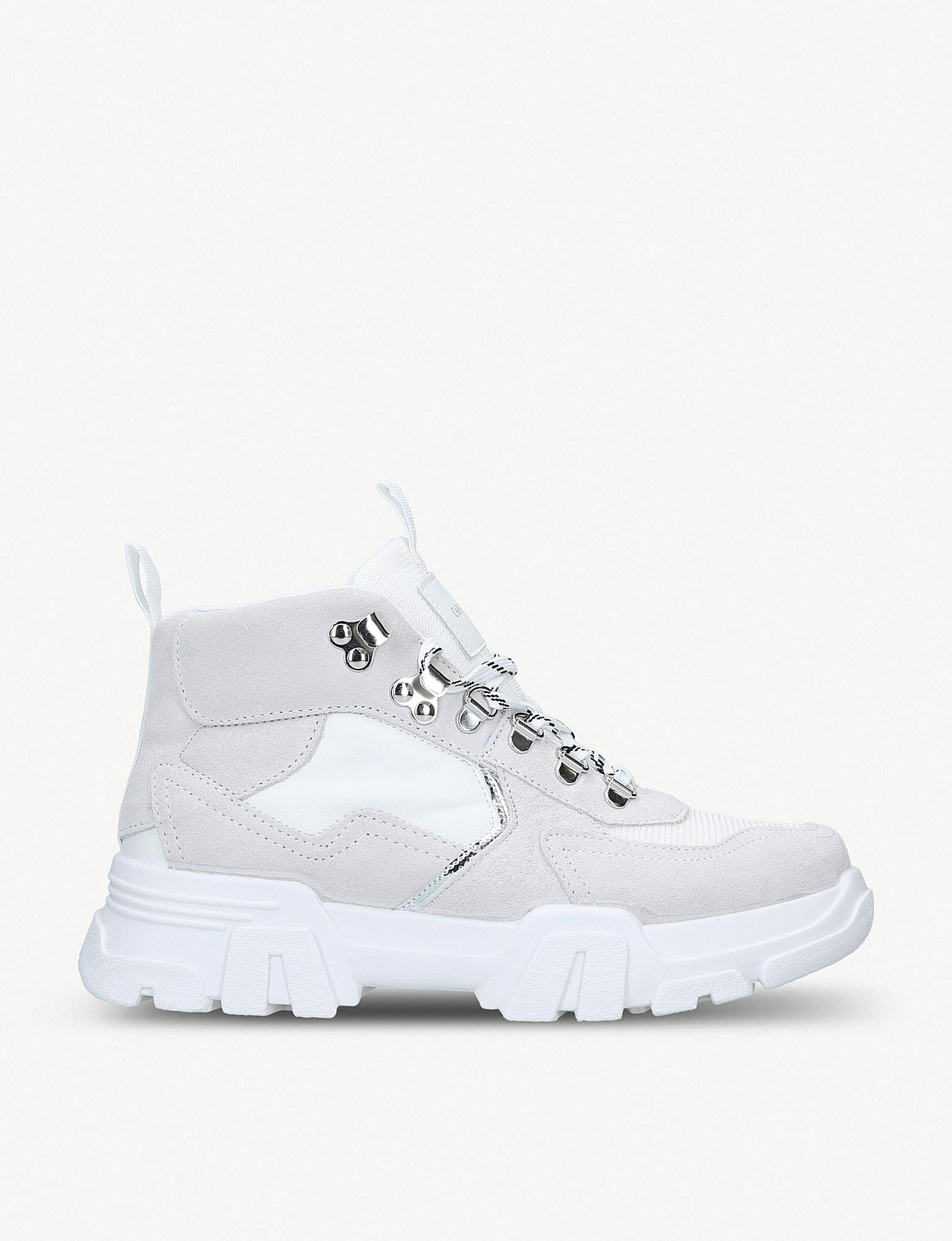 ff4d9f52c49f2 Lyst - Carvela Kurt Geiger White 'loopy' Suede High Top Trainers in ...