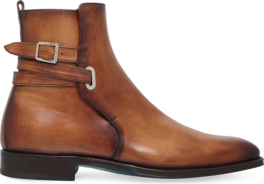 Sutor mantellassi Orthos Buckled Leather Boots in Brown ...