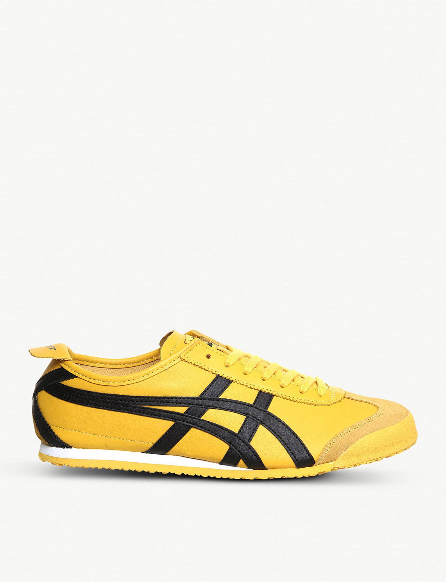 separation shoes 3823e 9e51e Asics. Women s Yellow Mexico 66 Leather Trainers