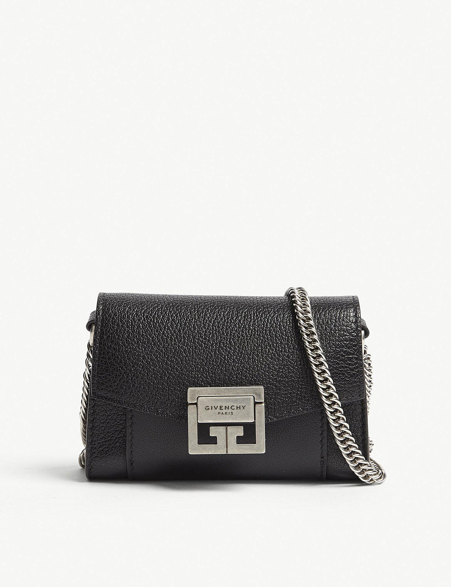 22d10192ac0f Lyst - Givenchy Gv3 Nano Leather Belt Bag in Black