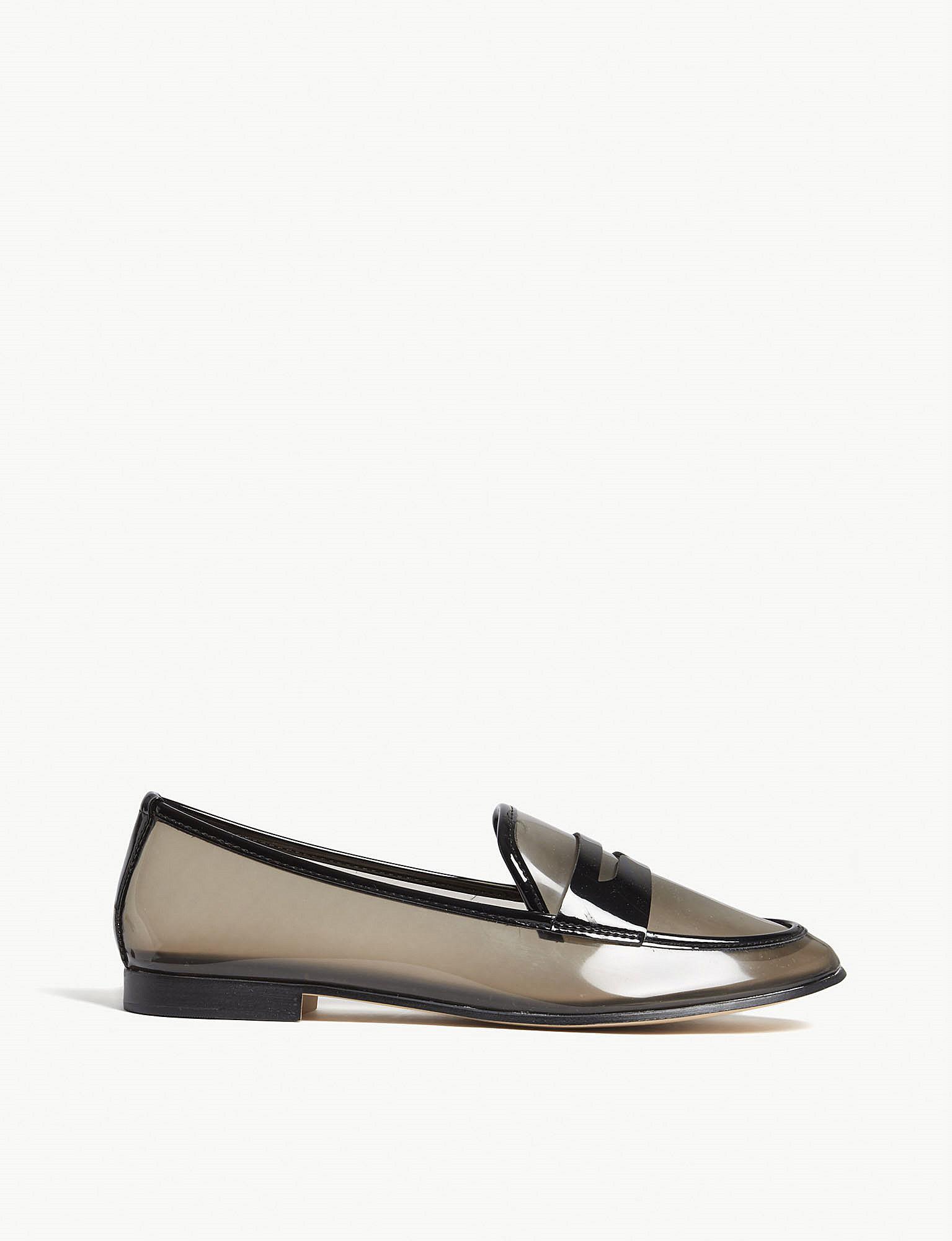 c10c215c10c Lyst - ALDO Heiwit Transparent Loafers in Black